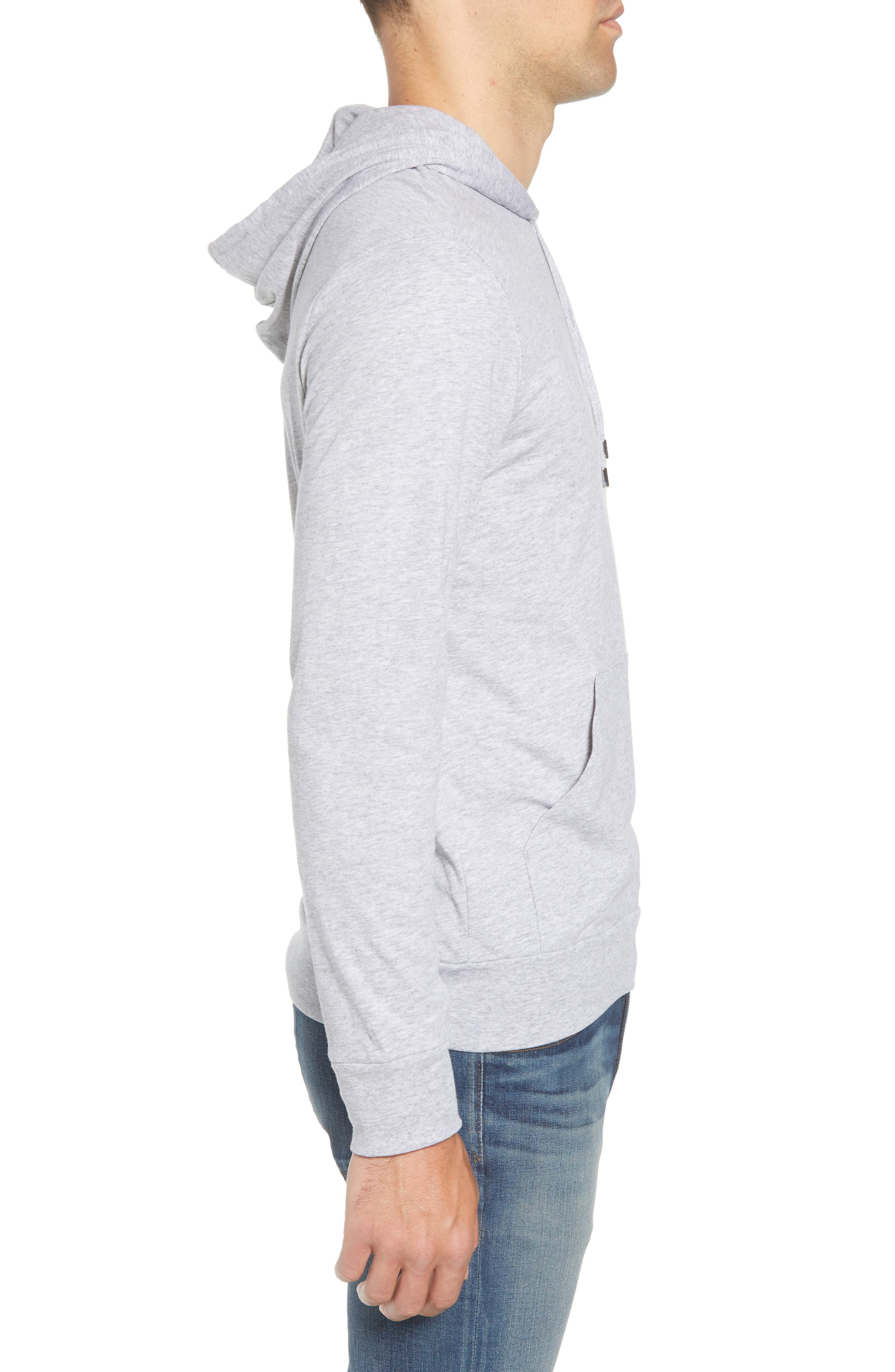Pullover Hoodie,                             Alternate thumbnail 3, color,                             SILVER CHINE