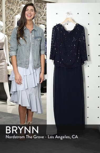 Embellished Lace & Chiffon Gown, sales video thumbnail