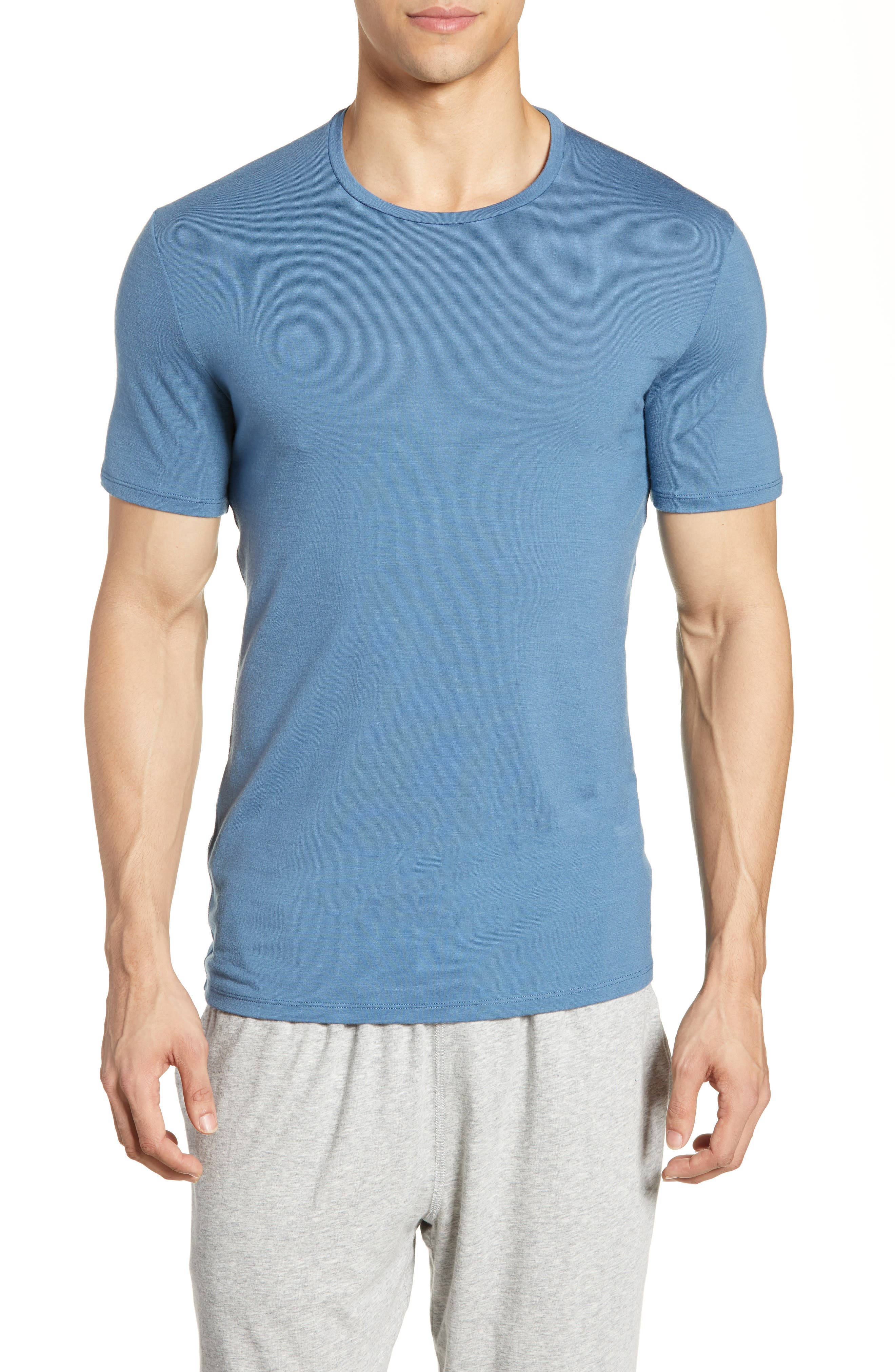 Icebreaker Anatomica Short Sleeve Crewneck T-Shirt, Blue