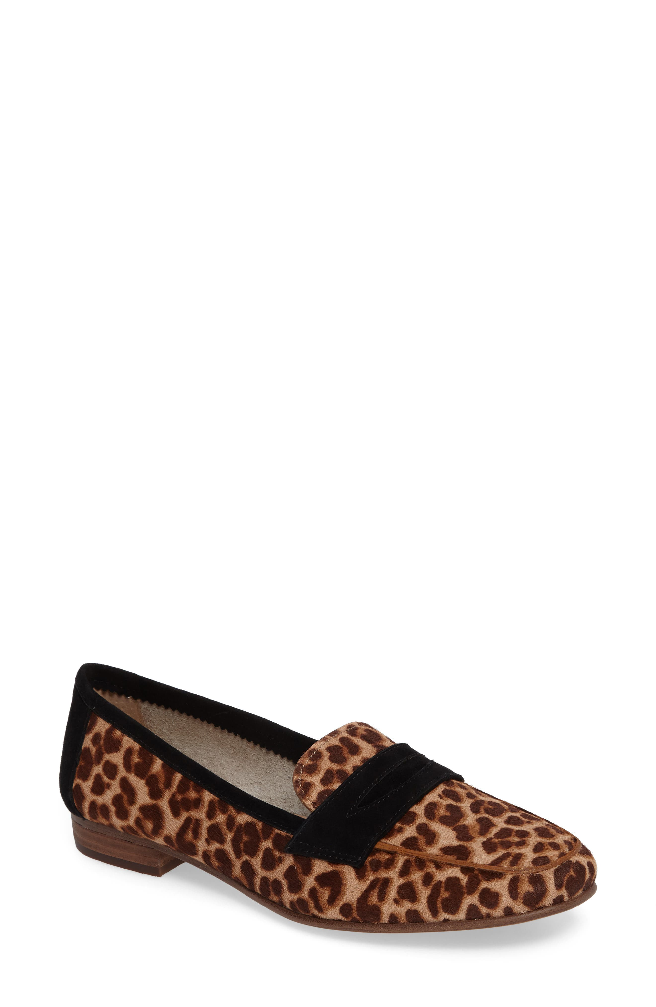 Elroy 2 Genuine Calf Hair Penny Loafer,                         Main,                         color, 201