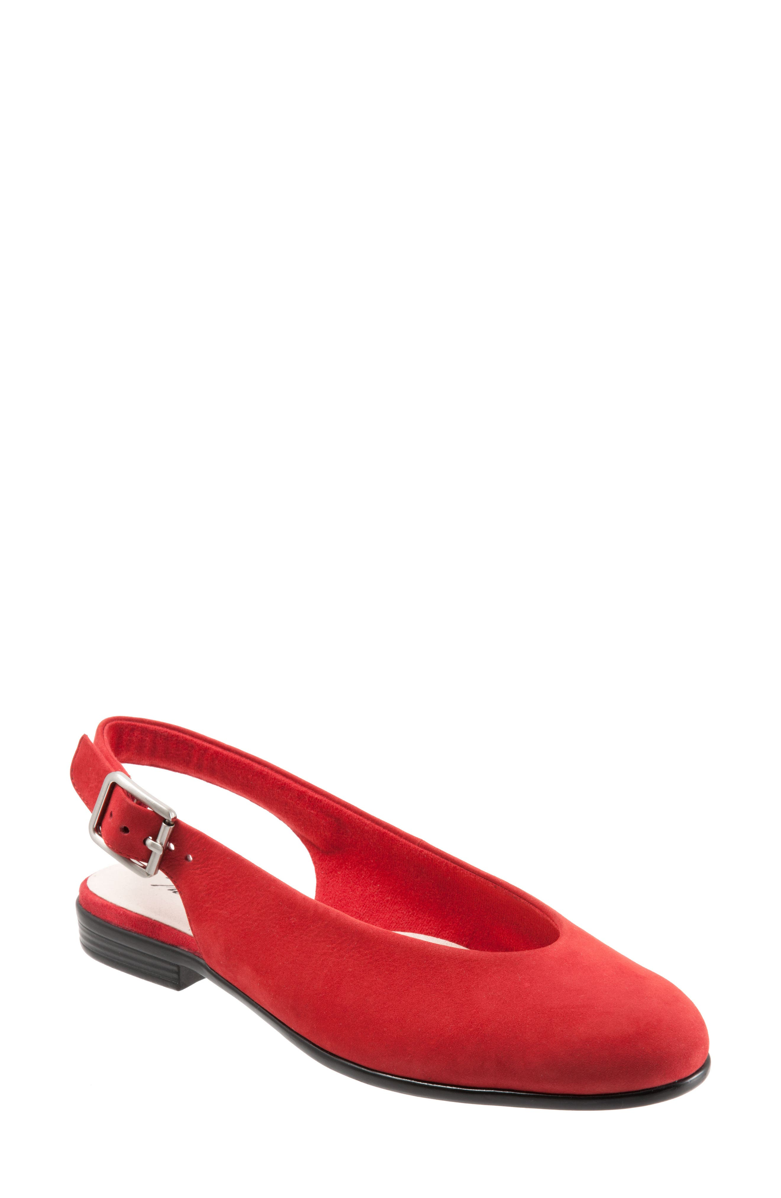 Alice Flat,                             Main thumbnail 1, color,                             RED SUEDE