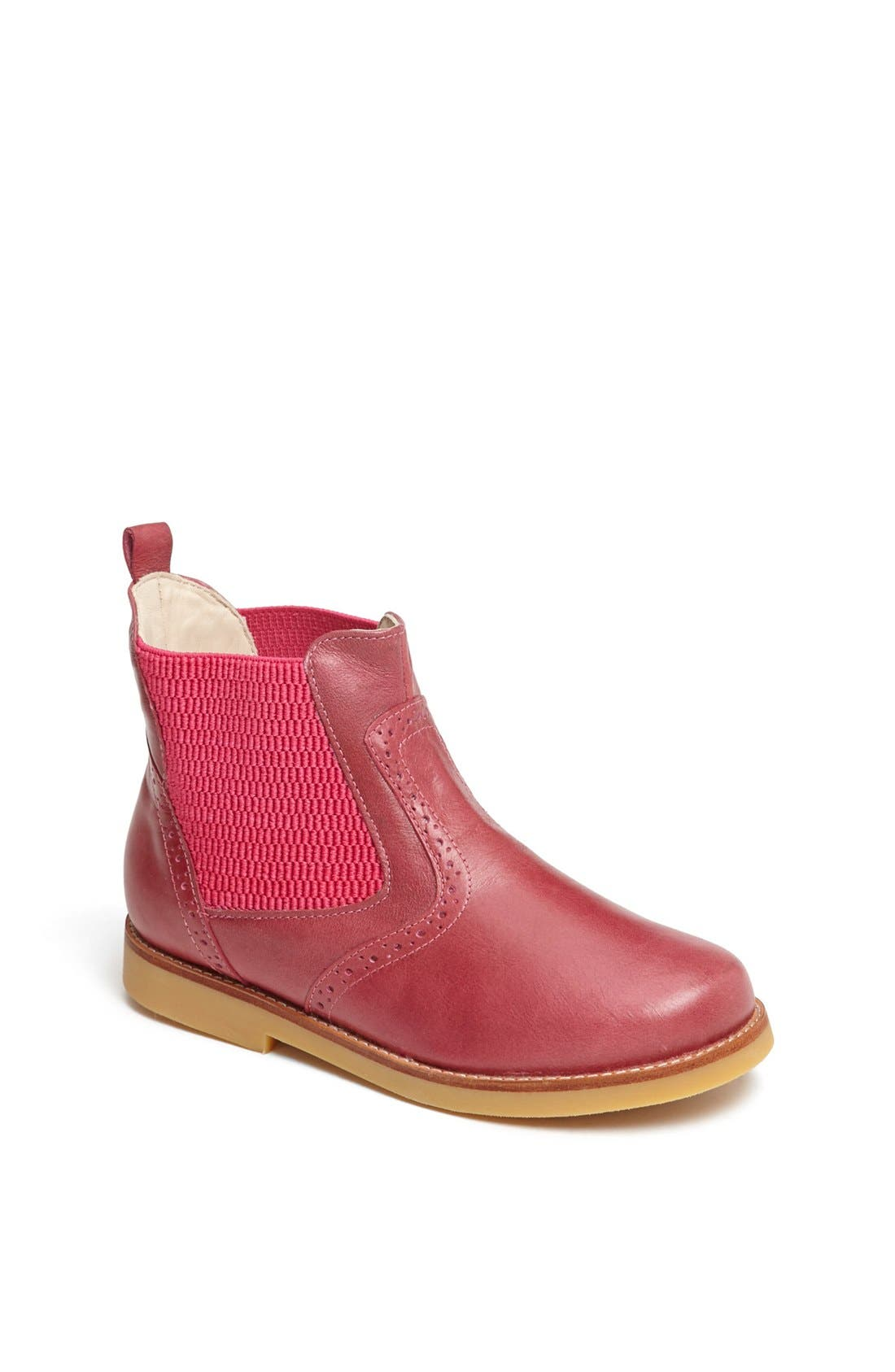 Leather Bootie,                             Main thumbnail 1, color,                             662
