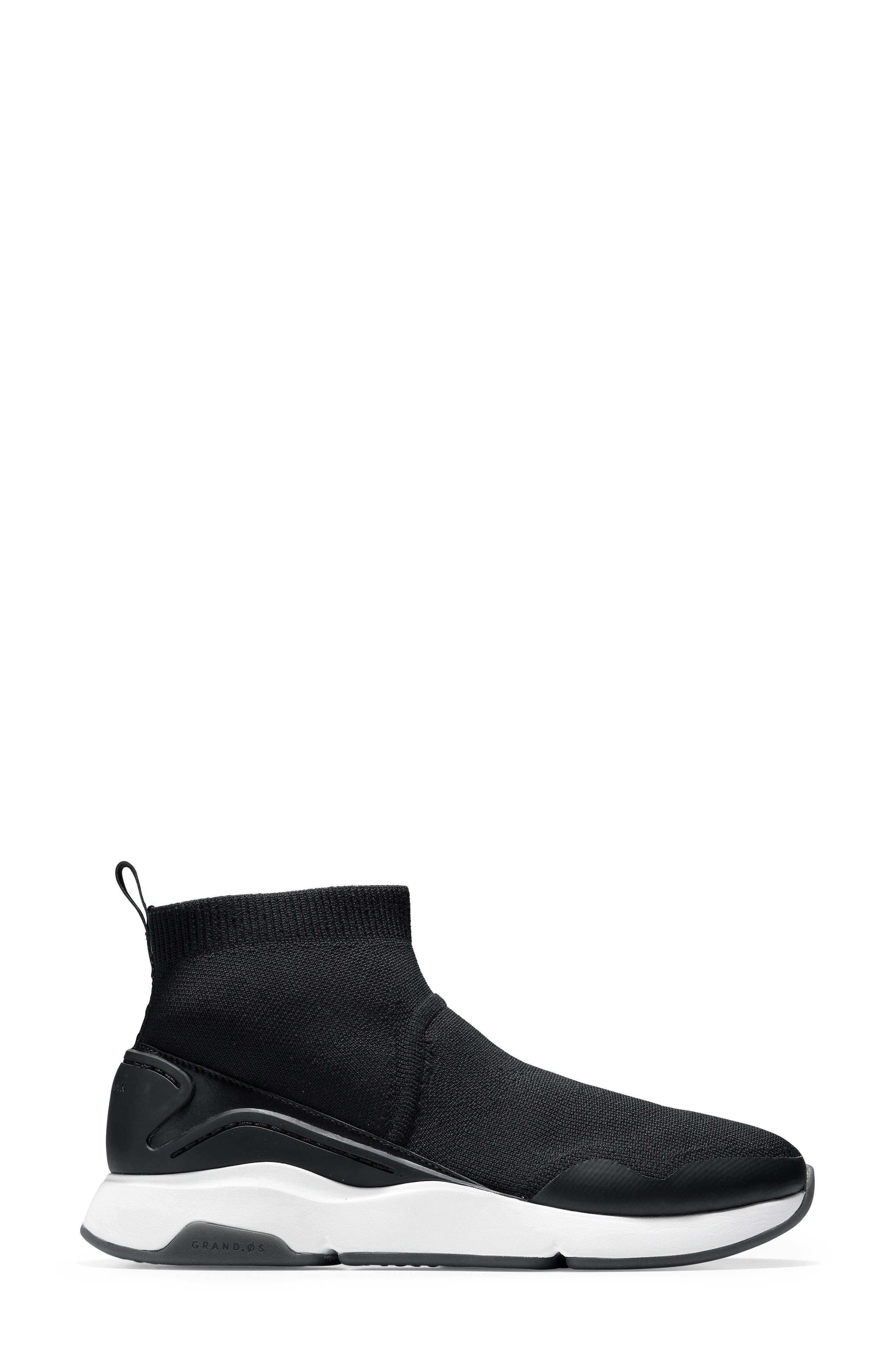 ZeroGrand Motion Slip-On Sneaker,                             Alternate thumbnail 3, color,                             BLACK LEATHER
