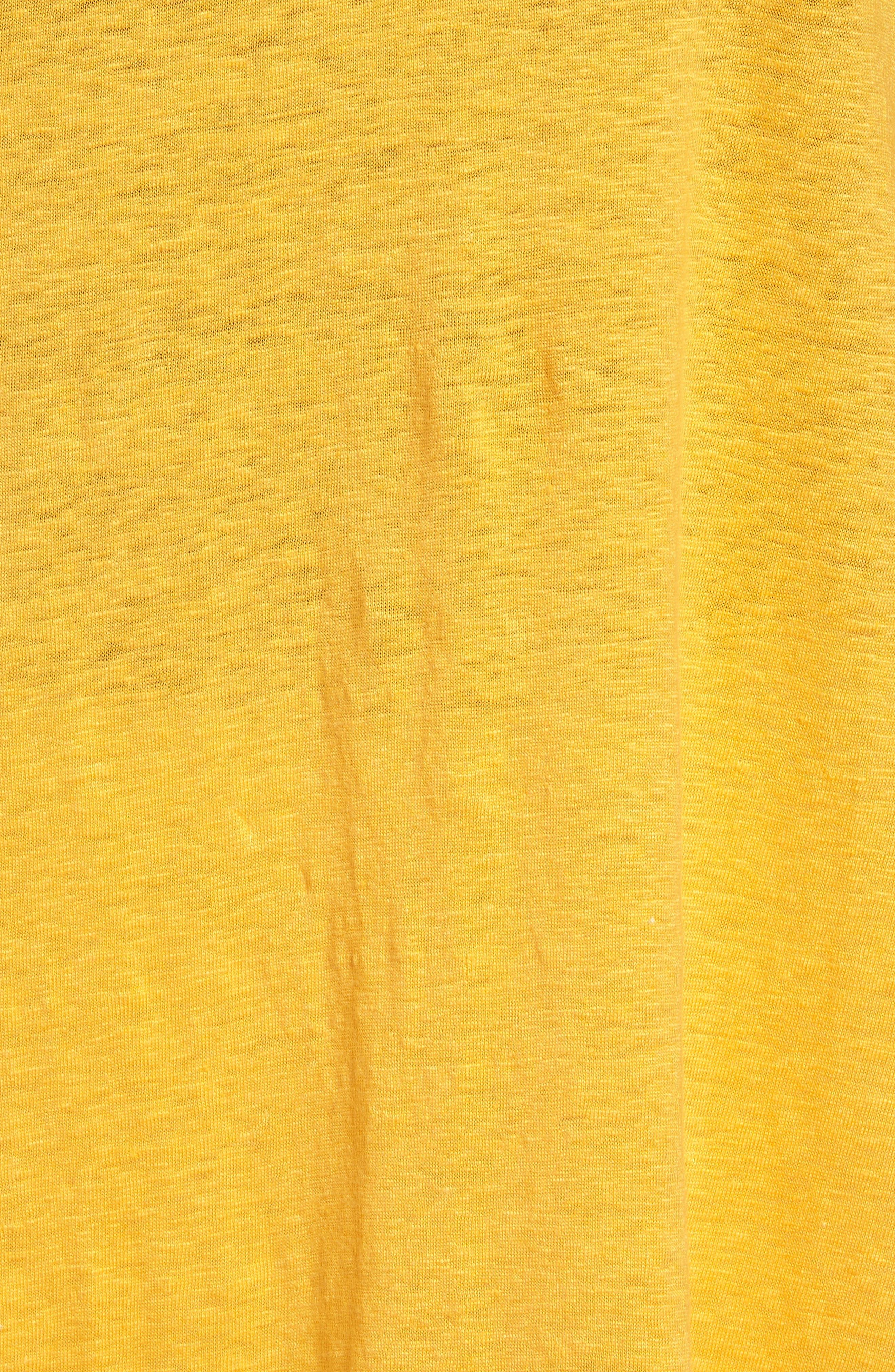 Bateau Neck Organic Linen Tunic,                             Alternate thumbnail 75, color,