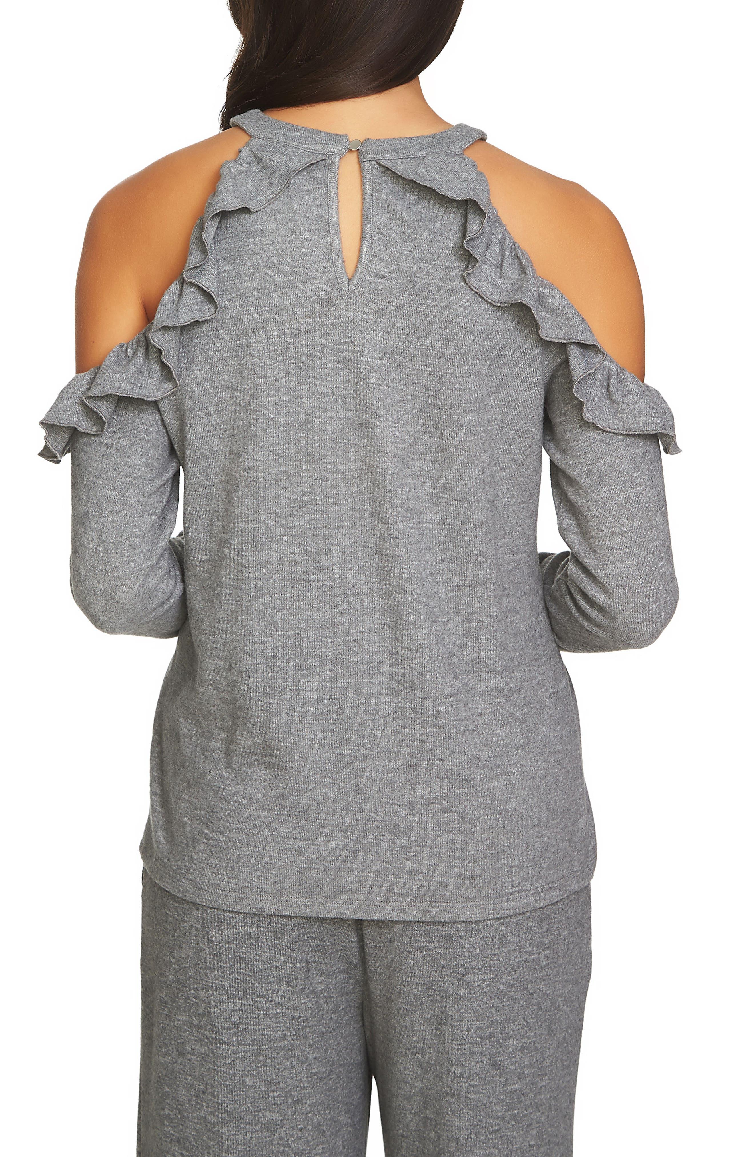 The Cozy Cold Shoulder Knit Top,                             Alternate thumbnail 6, color,