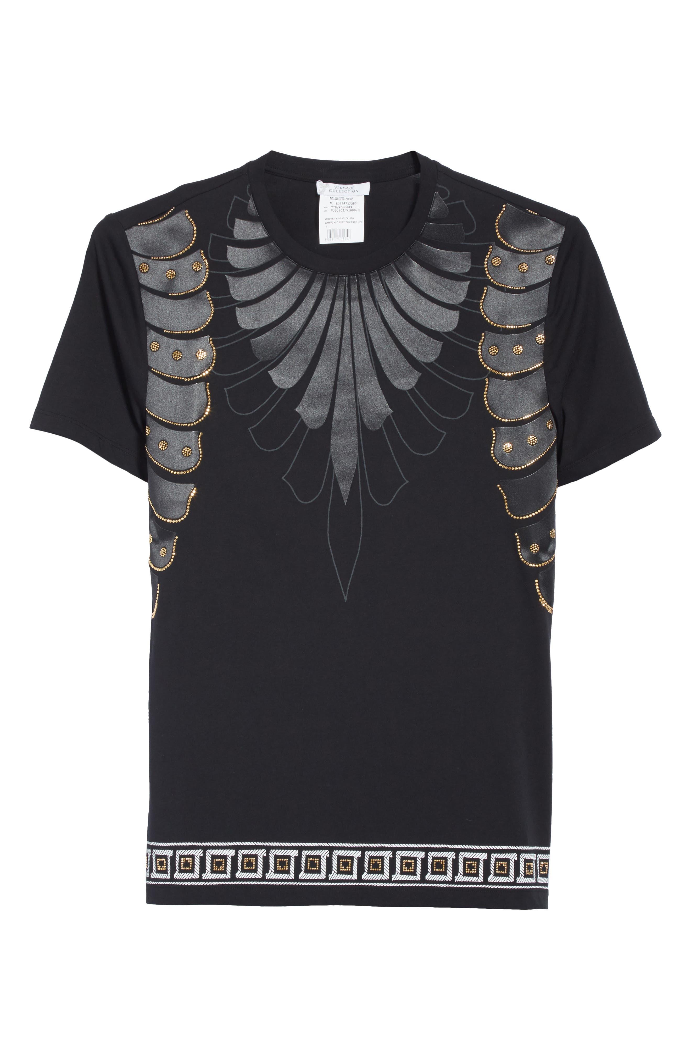 Armor Print T-Shirt,                             Alternate thumbnail 6, color,                             130