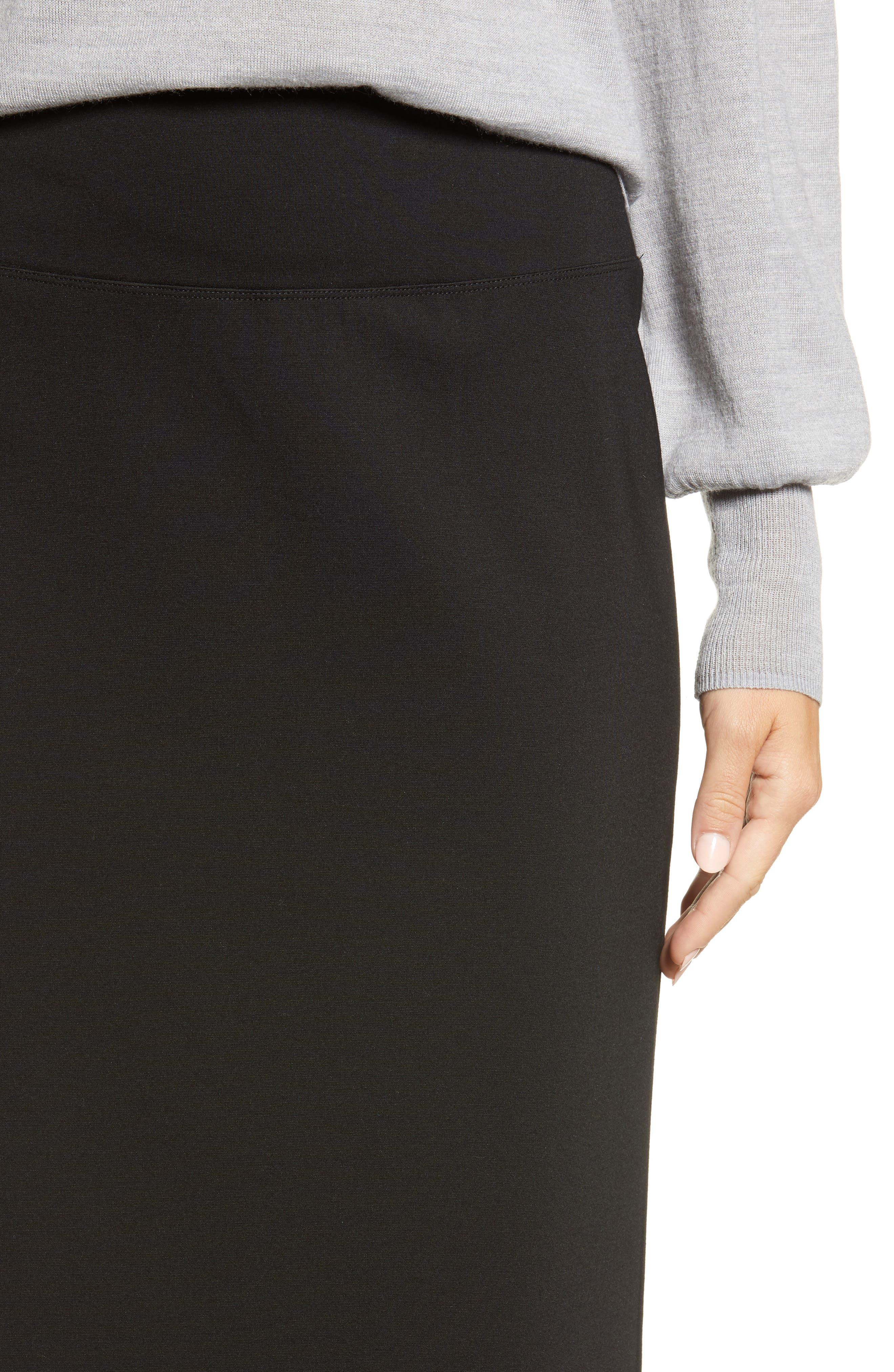 HALOGEN<SUP>®</SUP>,                             Ponte Pencil Skirt,                             Alternate thumbnail 4, color,                             001