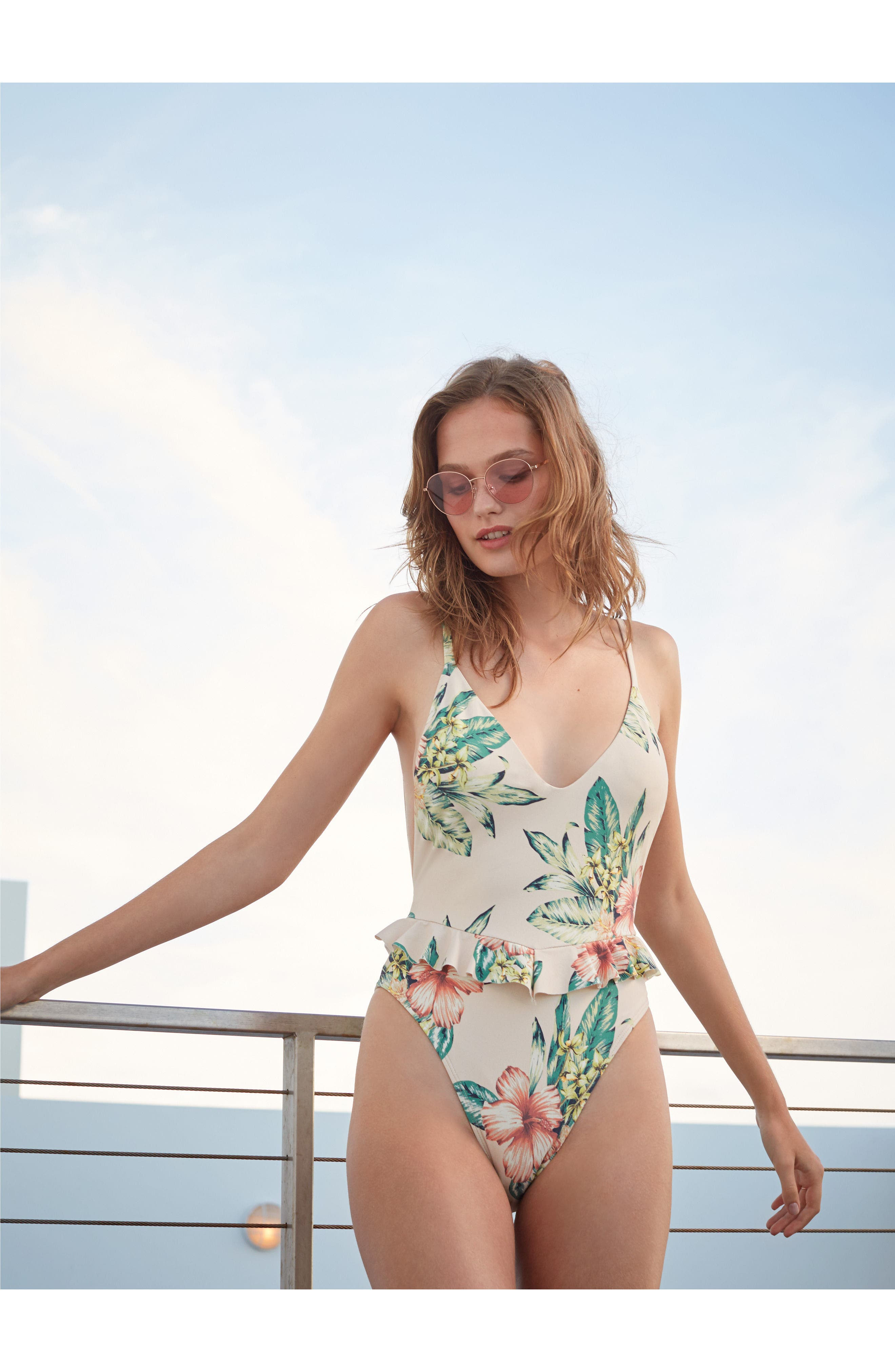 Cynthia One-Piece Swimsuit,                             Alternate thumbnail 8, color,                             100