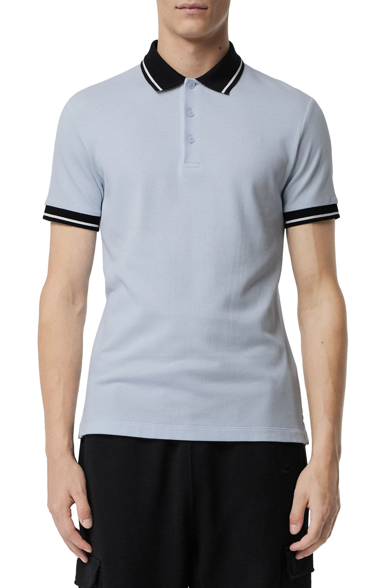 BURBERRY Moreton Polo, Main, color, LIGHT INDIGO