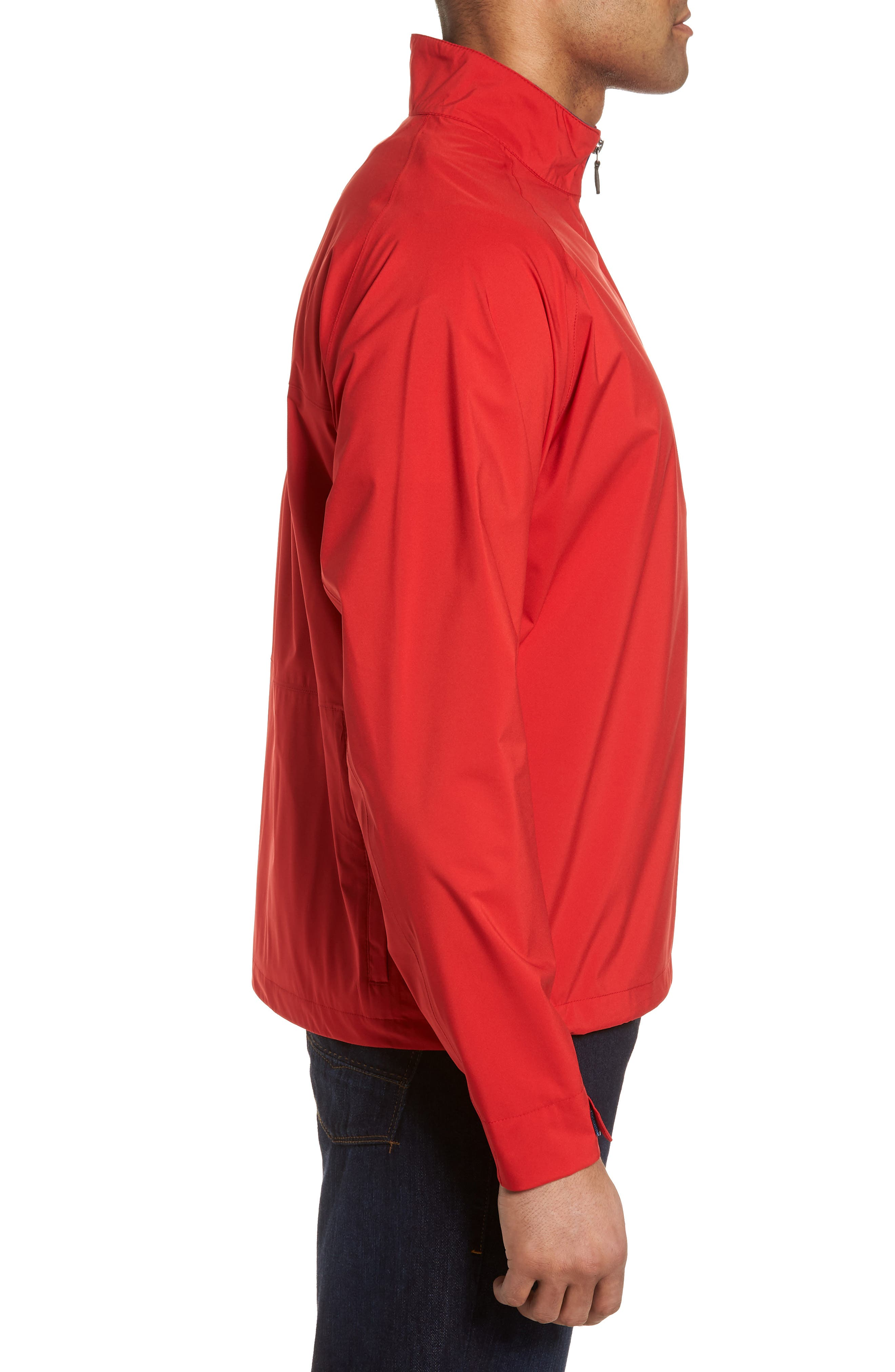 Regular Fit Half Zip Performance Pullover,                             Alternate thumbnail 6, color,