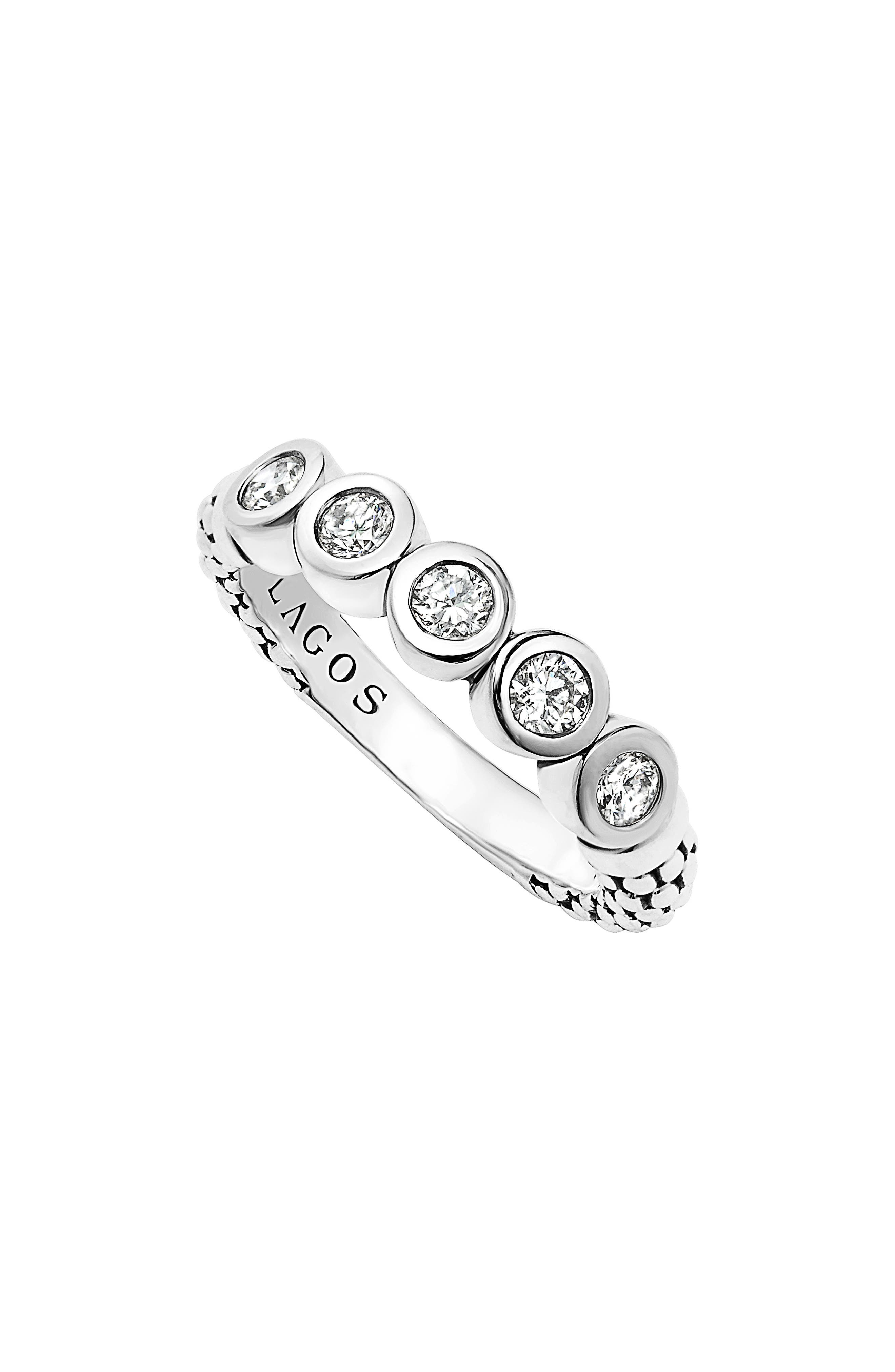 Diamond Stacking Ring,                         Main,                         color, SILVER