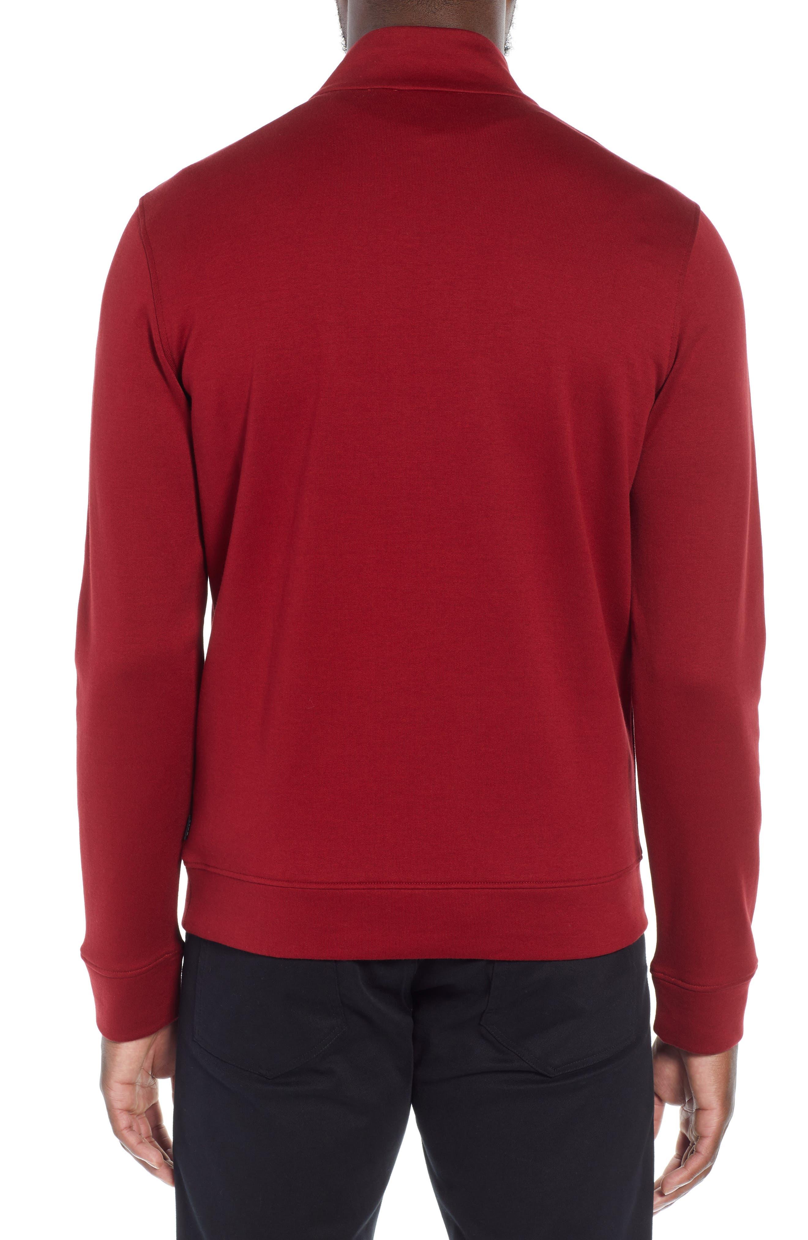 Sidney Quarter Zip Pullover,                             Alternate thumbnail 2, color,                             RED