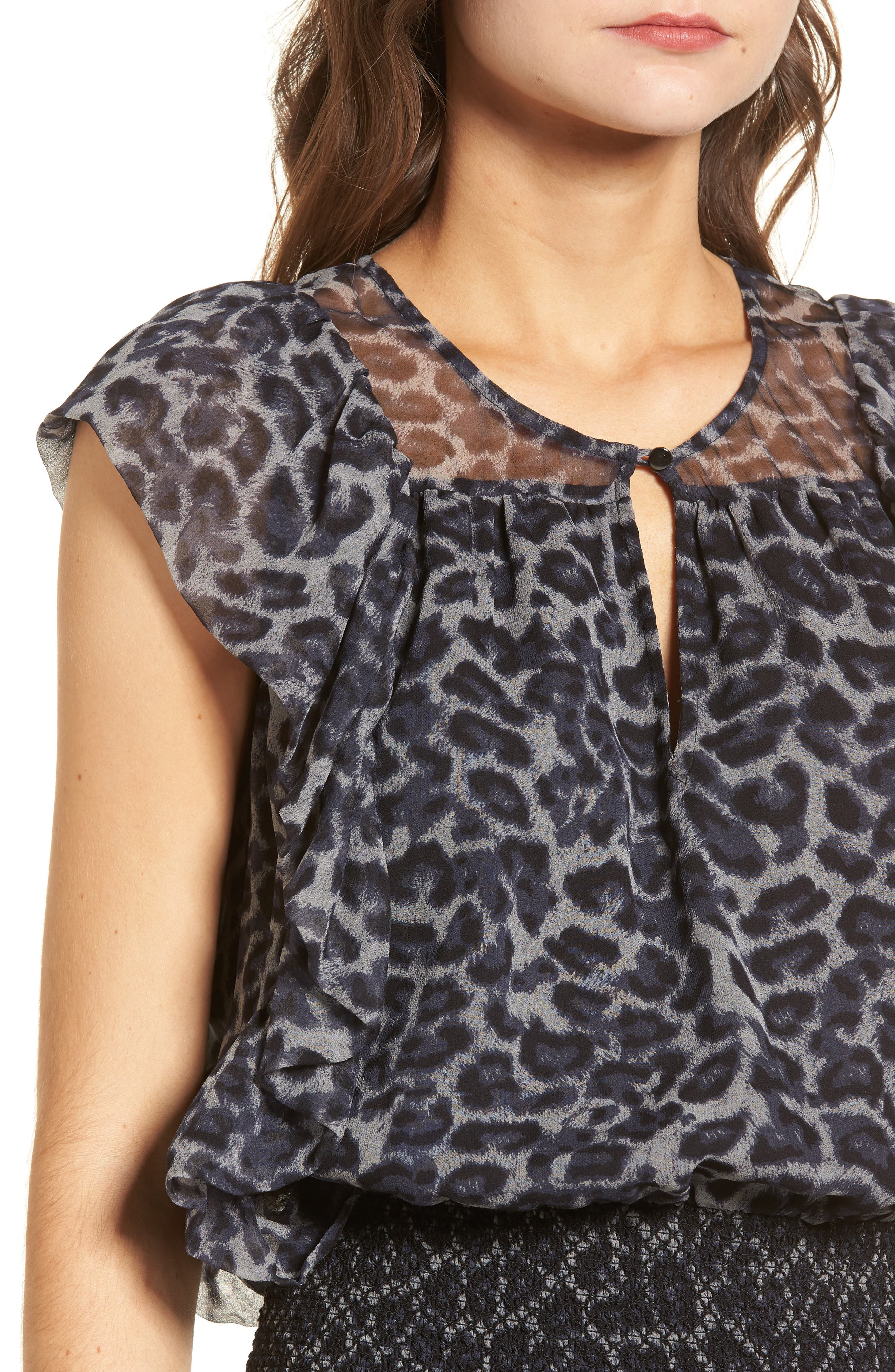 Tigris Smock Waist Dress,                             Alternate thumbnail 4, color,                             009