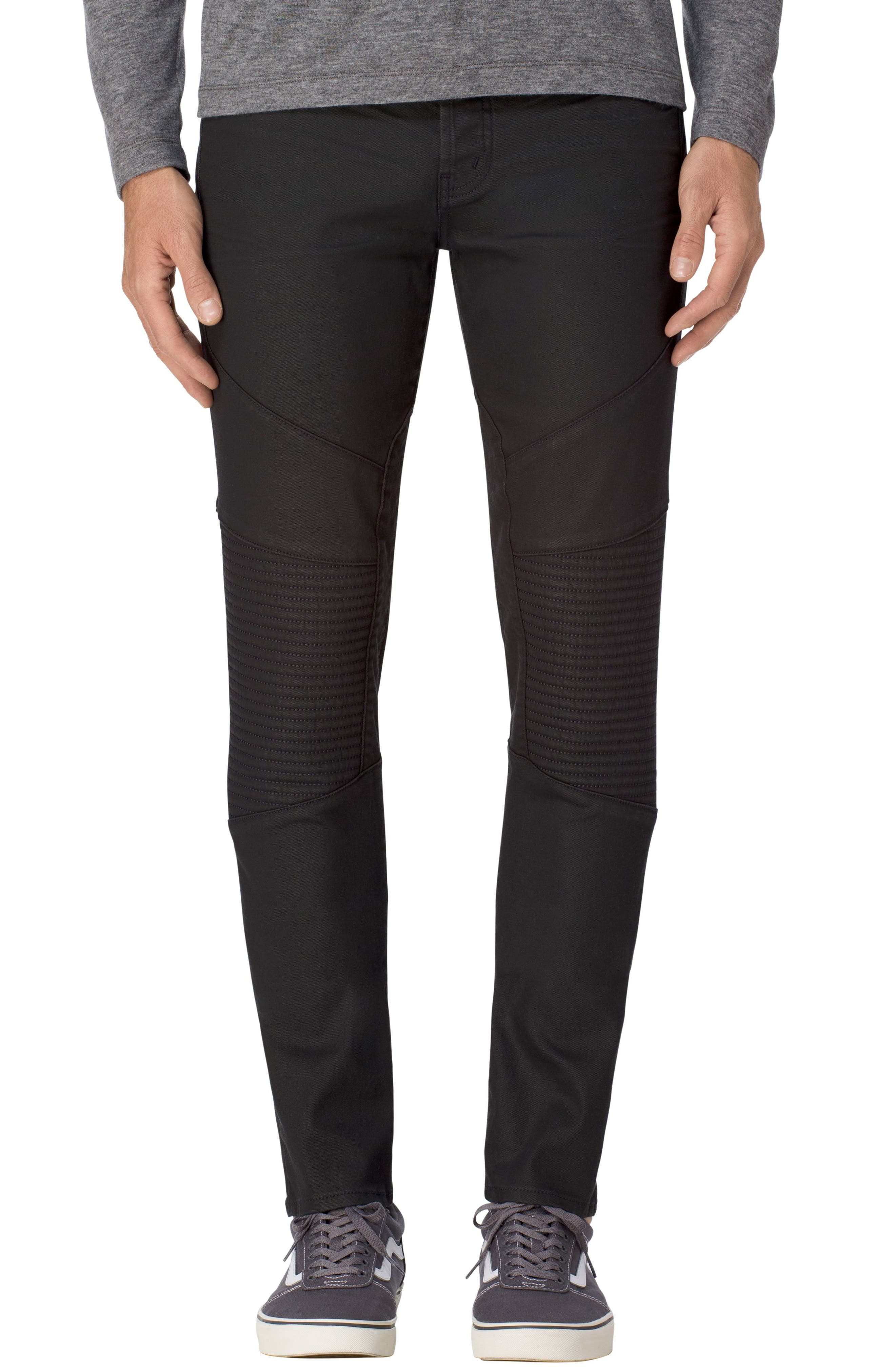 Bearden Moto Skinny Fit Jeans,                         Main,                         color, 001