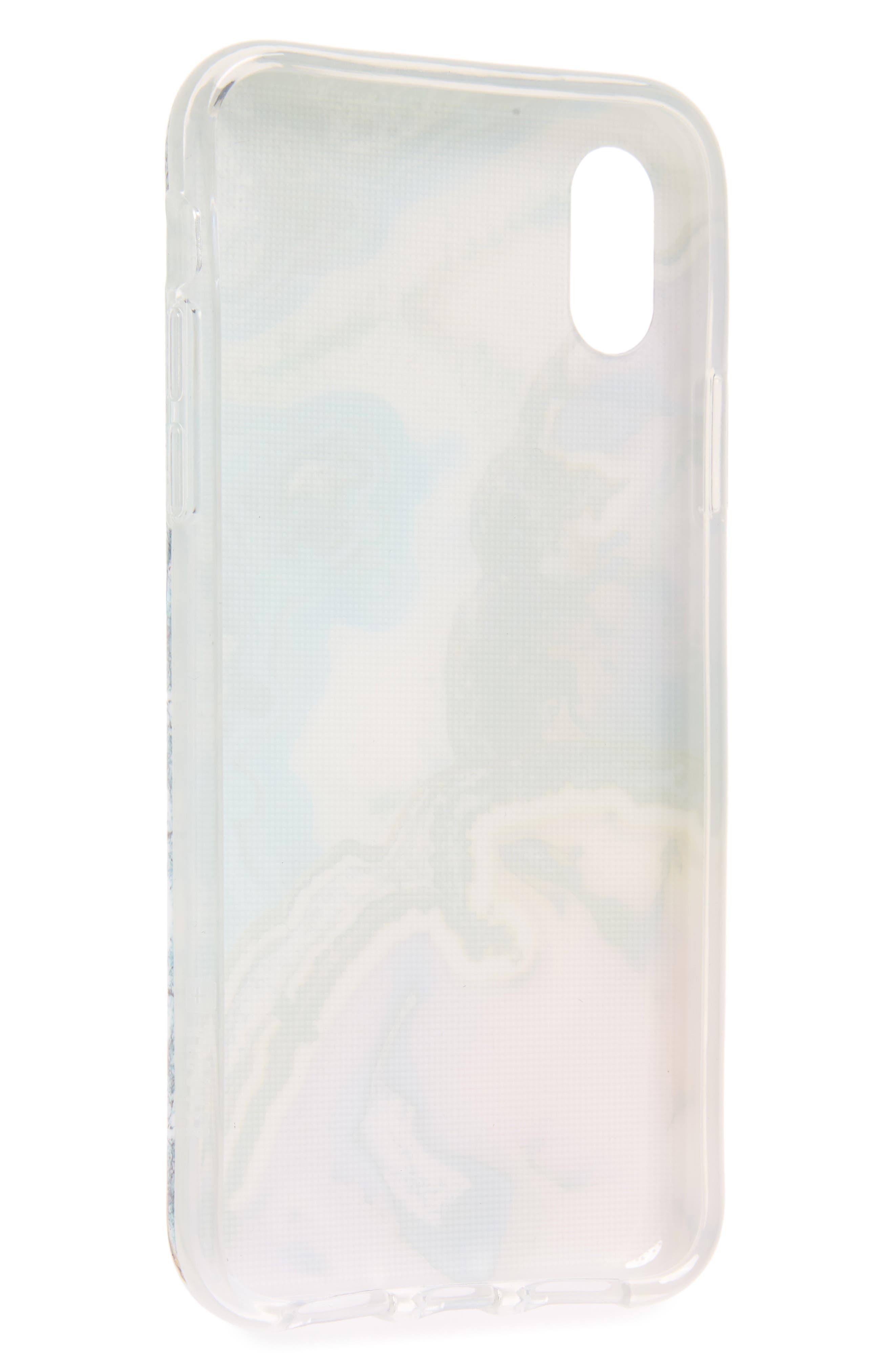 Agate Print iPhone X & Xs Case,                             Alternate thumbnail 2, color,