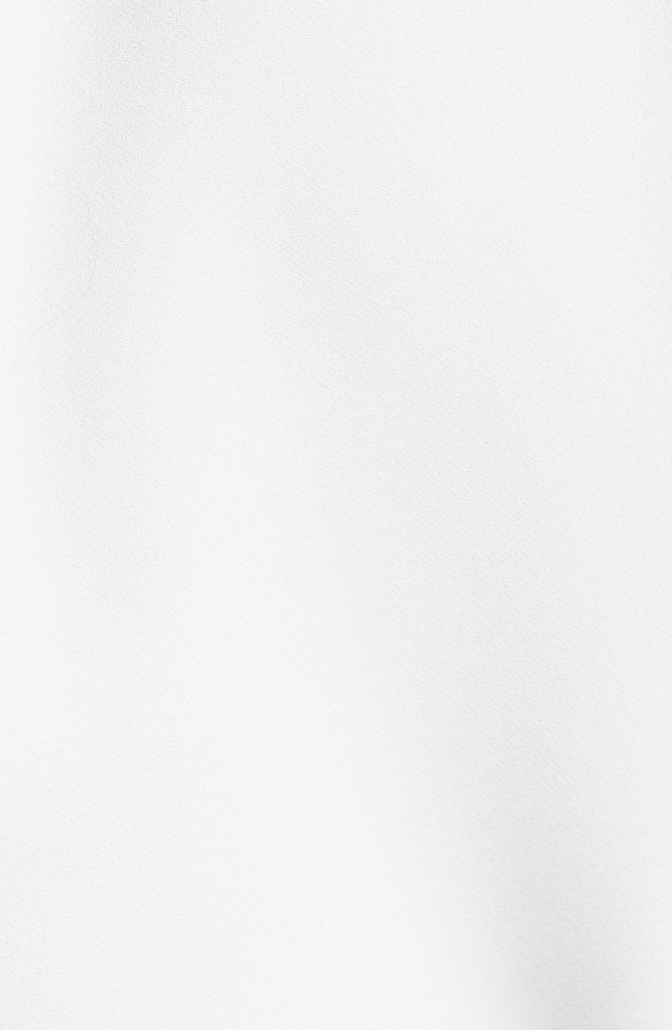 Crepe Cady Turtleneck Blouse,                             Alternate thumbnail 5, color,                             100