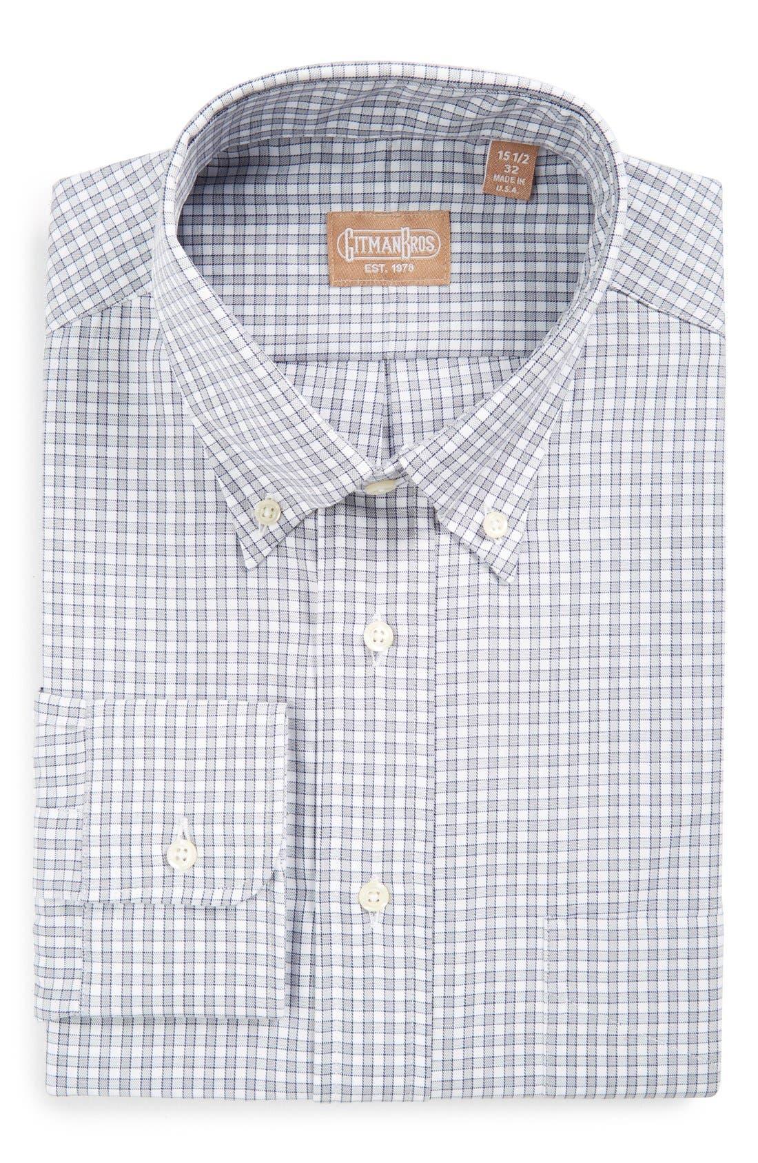 Regular Fit Gingham Check Dress Shirt,                             Main thumbnail 1, color,                             020