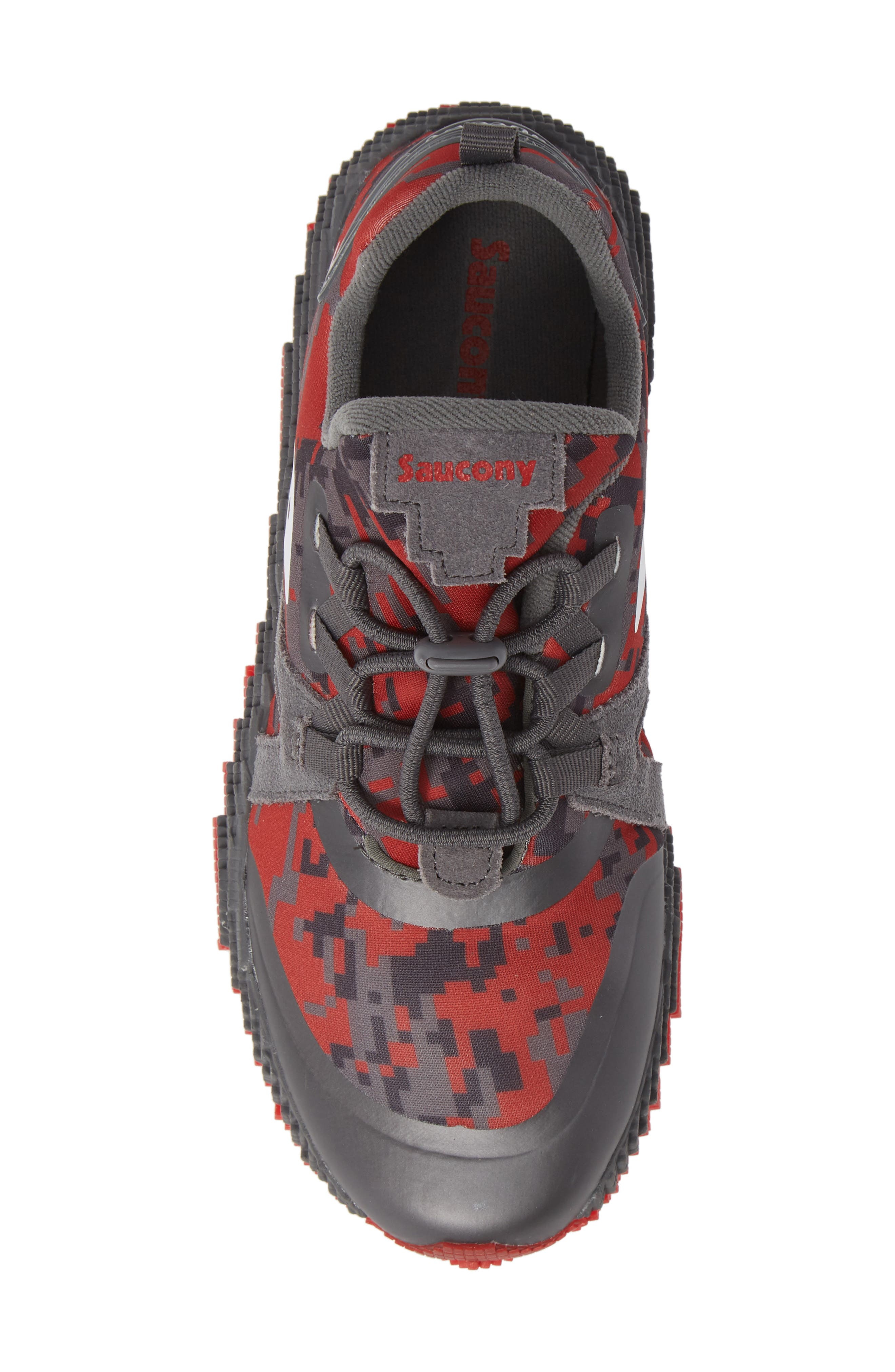 Voxel 9000 Sneaker,                             Alternate thumbnail 6, color,                             GREY LEATHER/ MESH 2