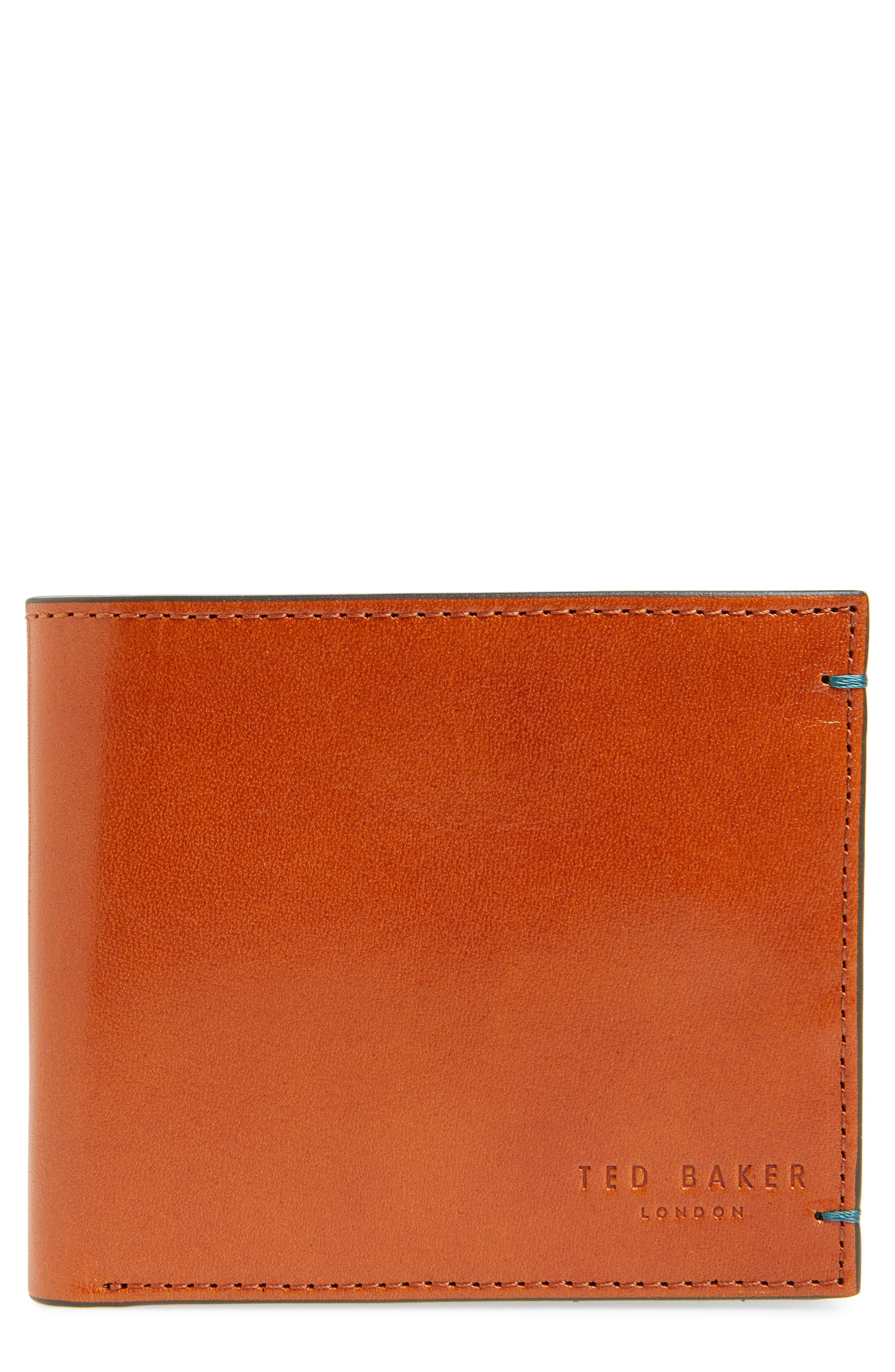Logans Leather Wallet,                         Main,                         color, TAN