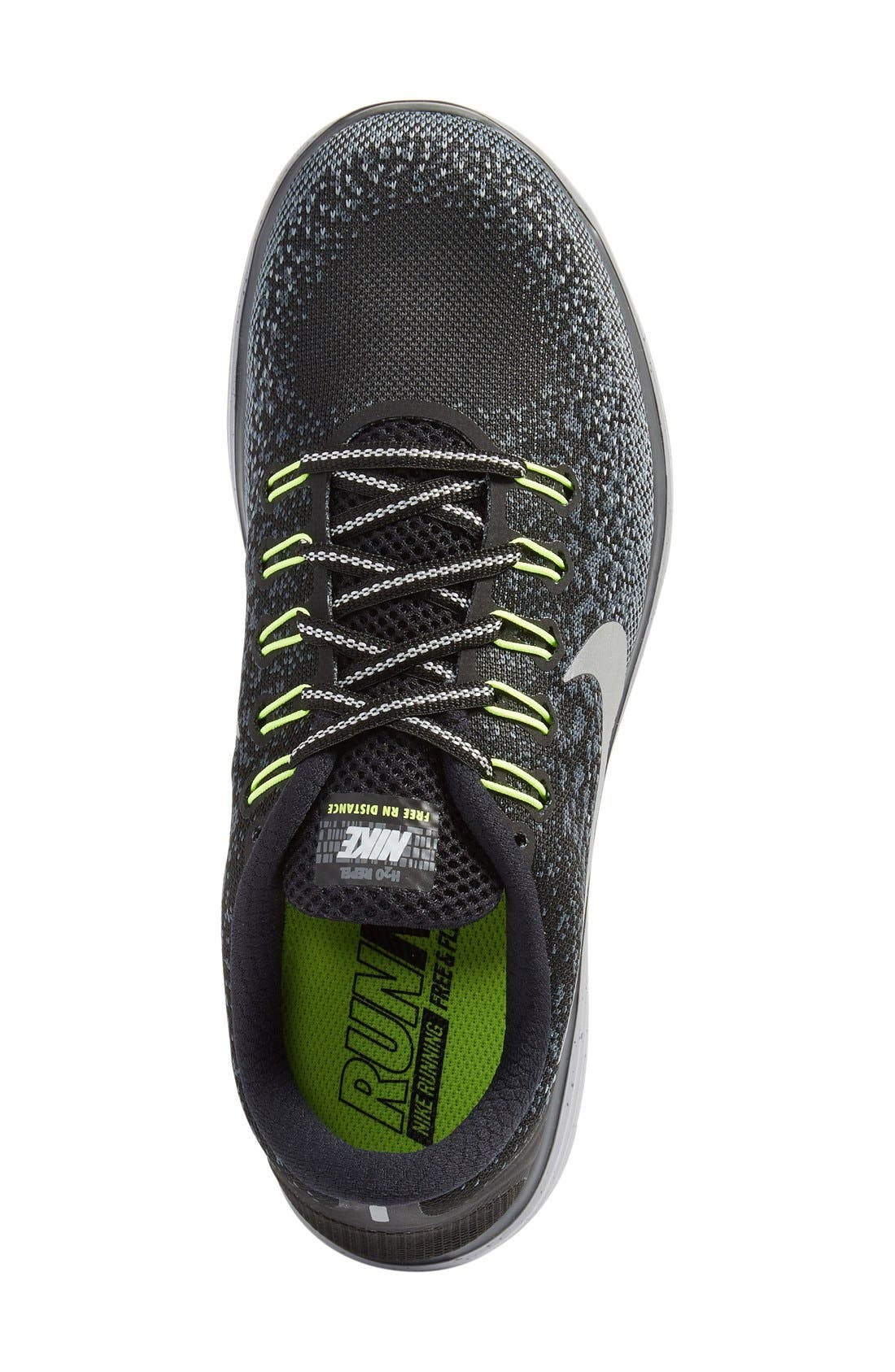 Free RN Distance Shield Running Shoe,                             Alternate thumbnail 8, color,
