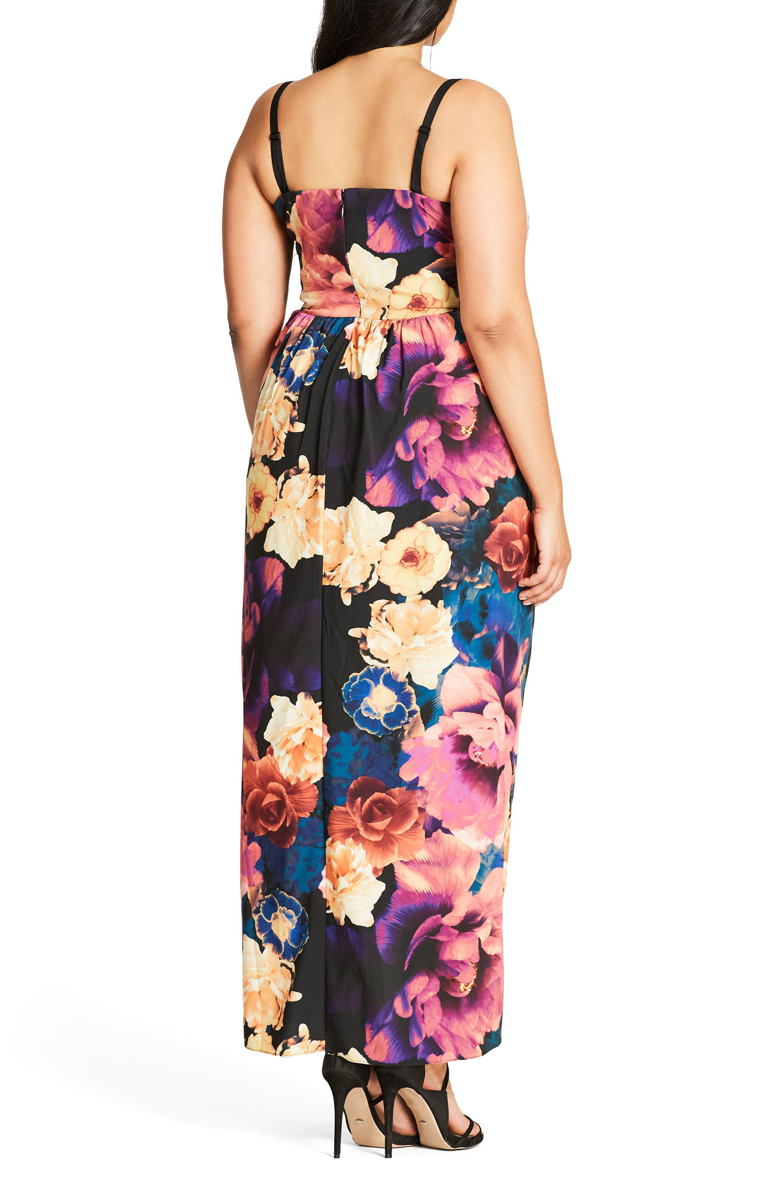 Secret Garden Maxi Dress,                             Alternate thumbnail 2, color,                             404