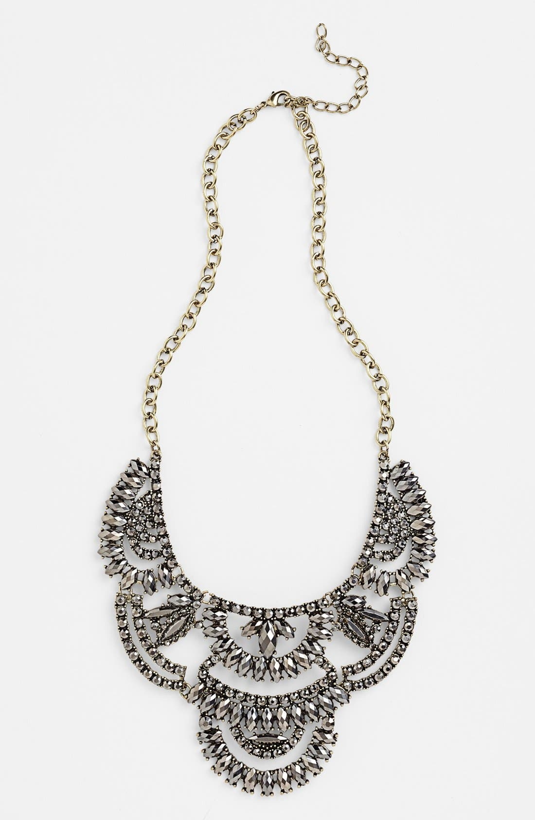 Stone Statement Necklace,                         Main,                         color, 001
