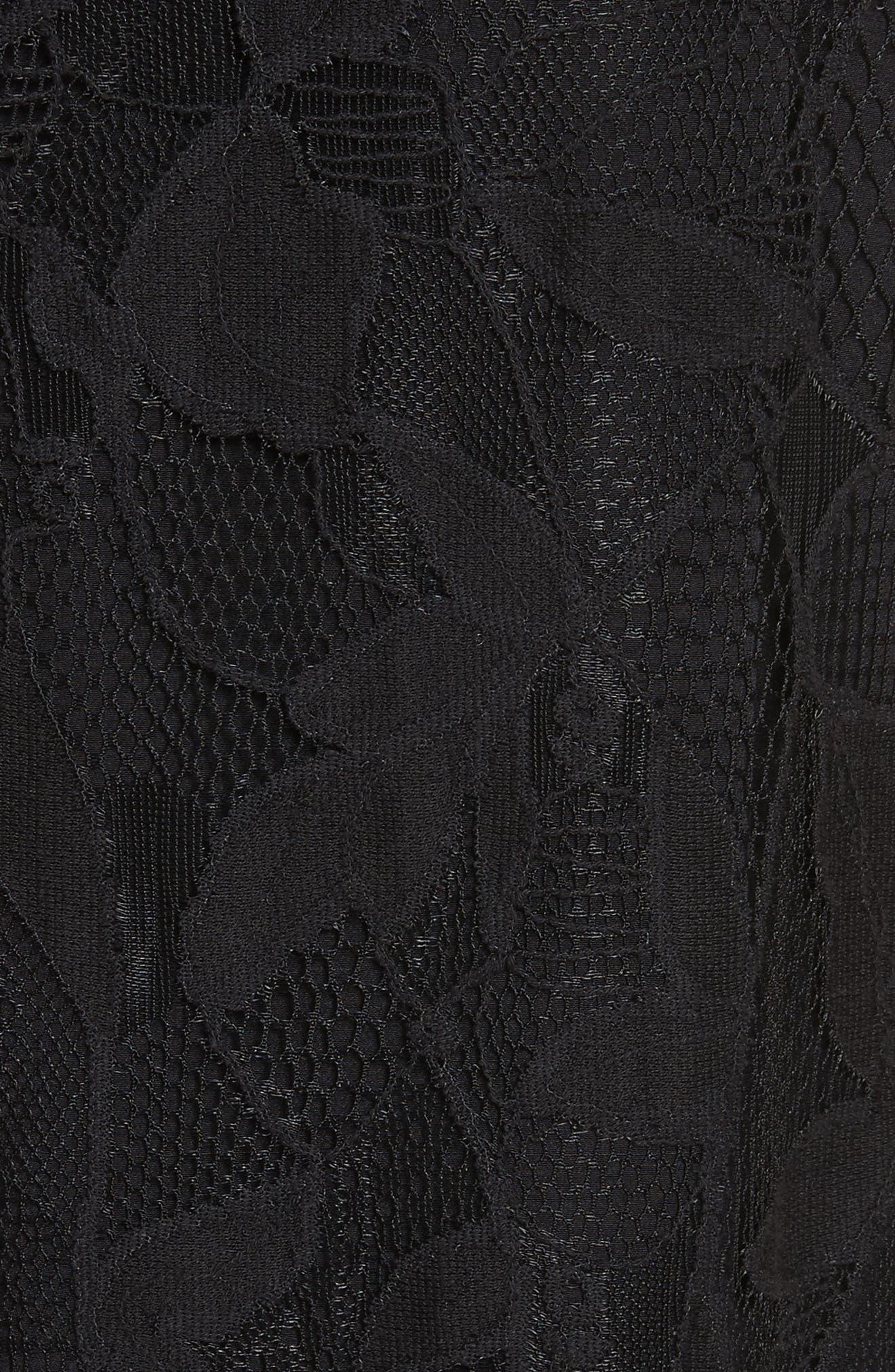 Sofiya Lace Dress,                             Alternate thumbnail 5, color,                             001