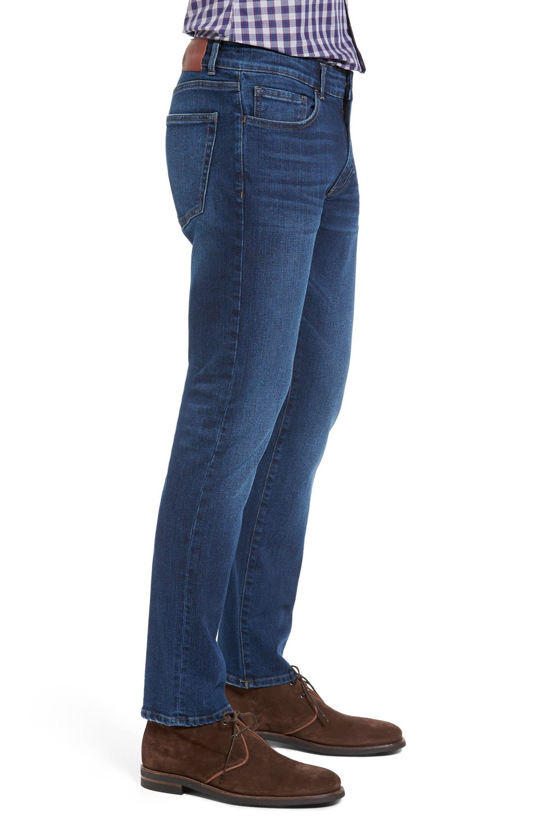 Russel Slim Straight Fit Jeans,                             Alternate thumbnail 4, color,                             405