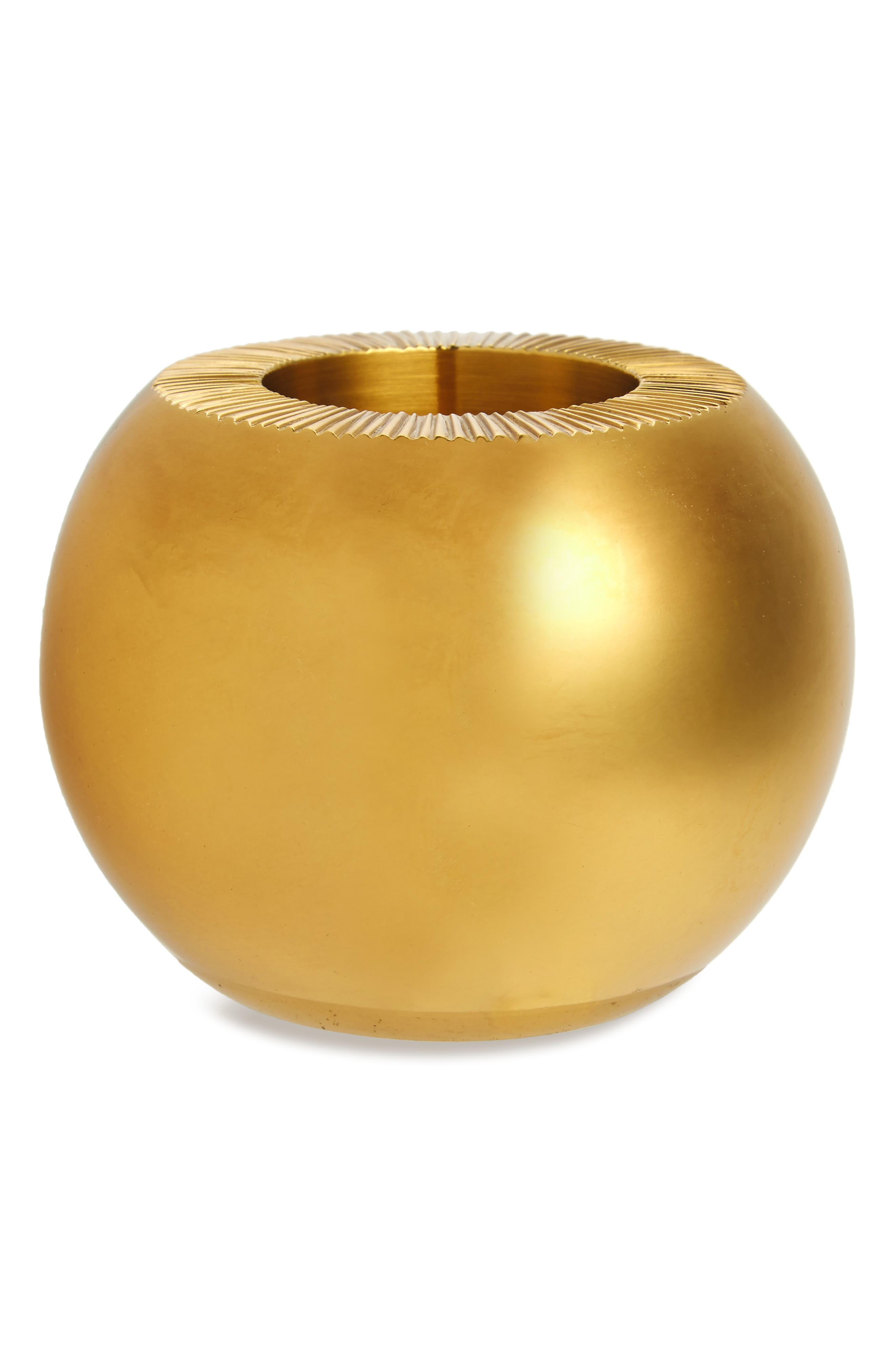 Brass Match Holder,                             Main thumbnail 1, color,                             METALLIC GOLD