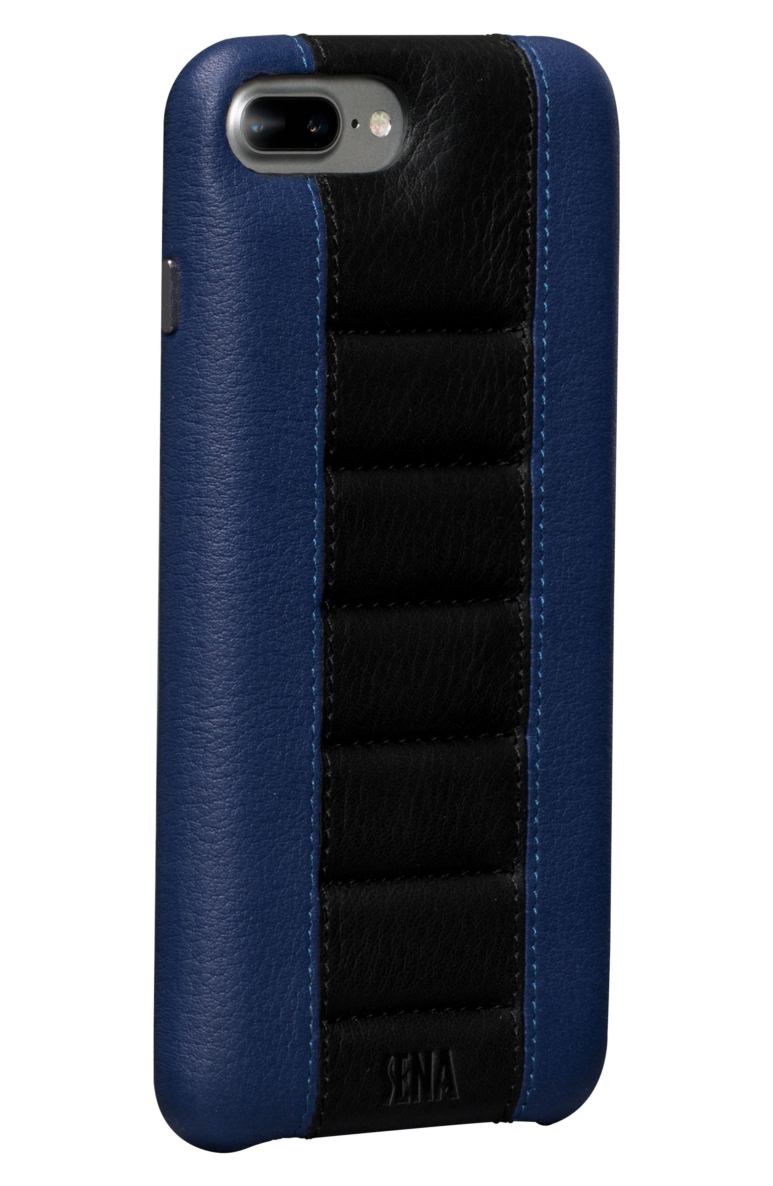 Racer iPhone 7 & 8 Plus Case,                             Main thumbnail 1, color,                             BLACK/ BLUE
