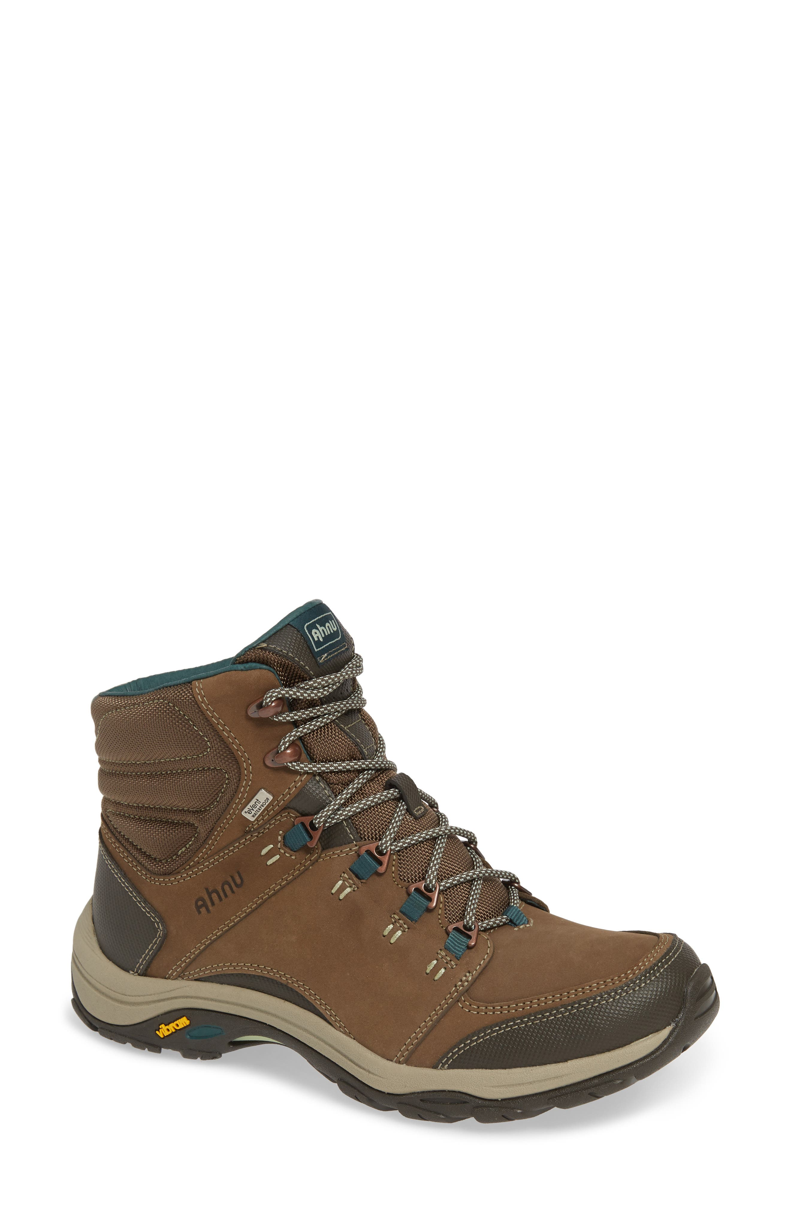 Ahnu by Teva Montara III Waterproof Hiking Boot,                             Main thumbnail 1, color,                             CHOCOLATE CHIP NUBUCK LEATHER