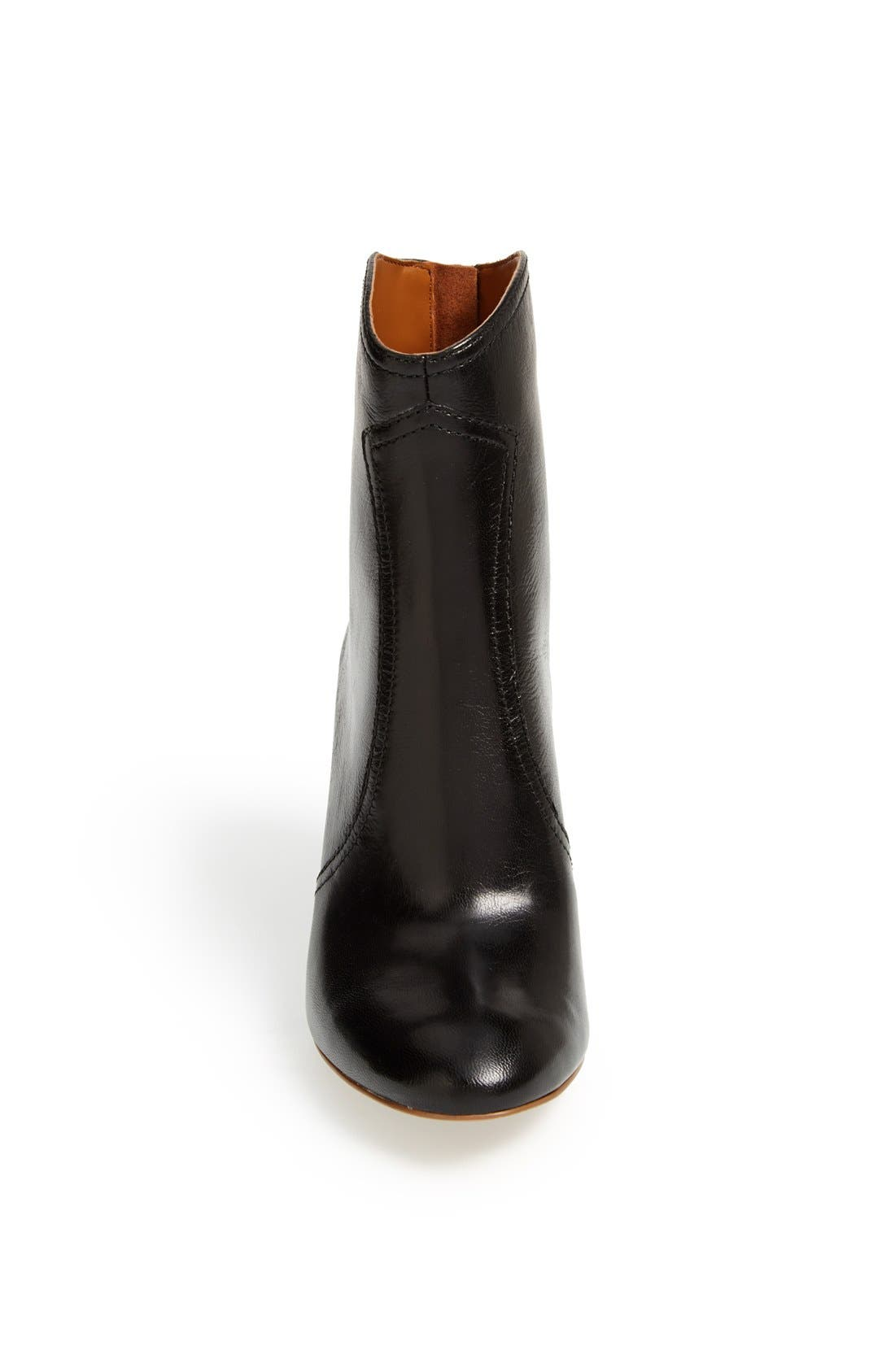 NINE WEST,                             'Dashiell' Leather Boot,                             Alternate thumbnail 3, color,                             001