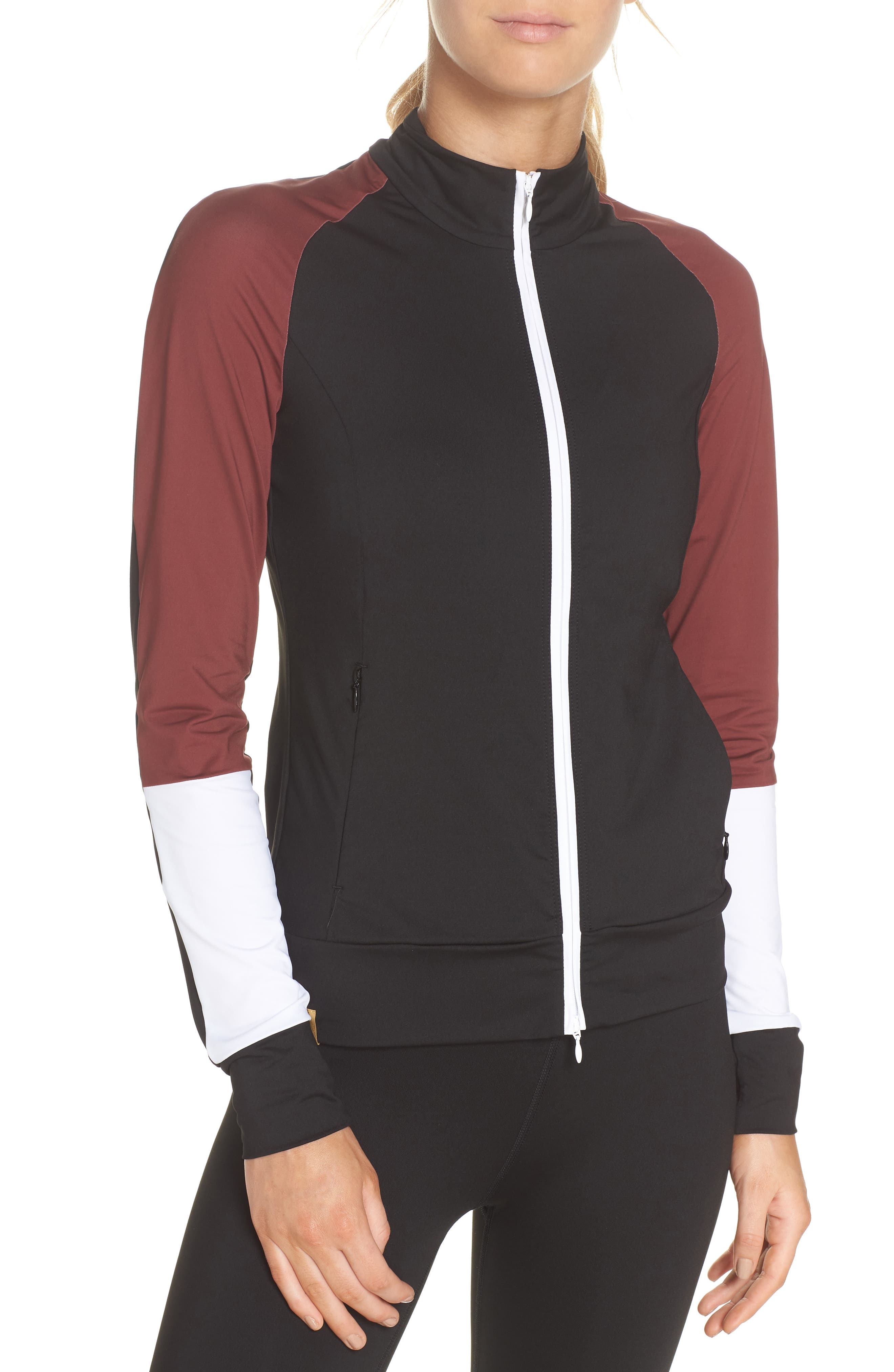 Featherweight Jacket,                             Alternate thumbnail 4, color,                             BLACK/ COCOA/ WHITE