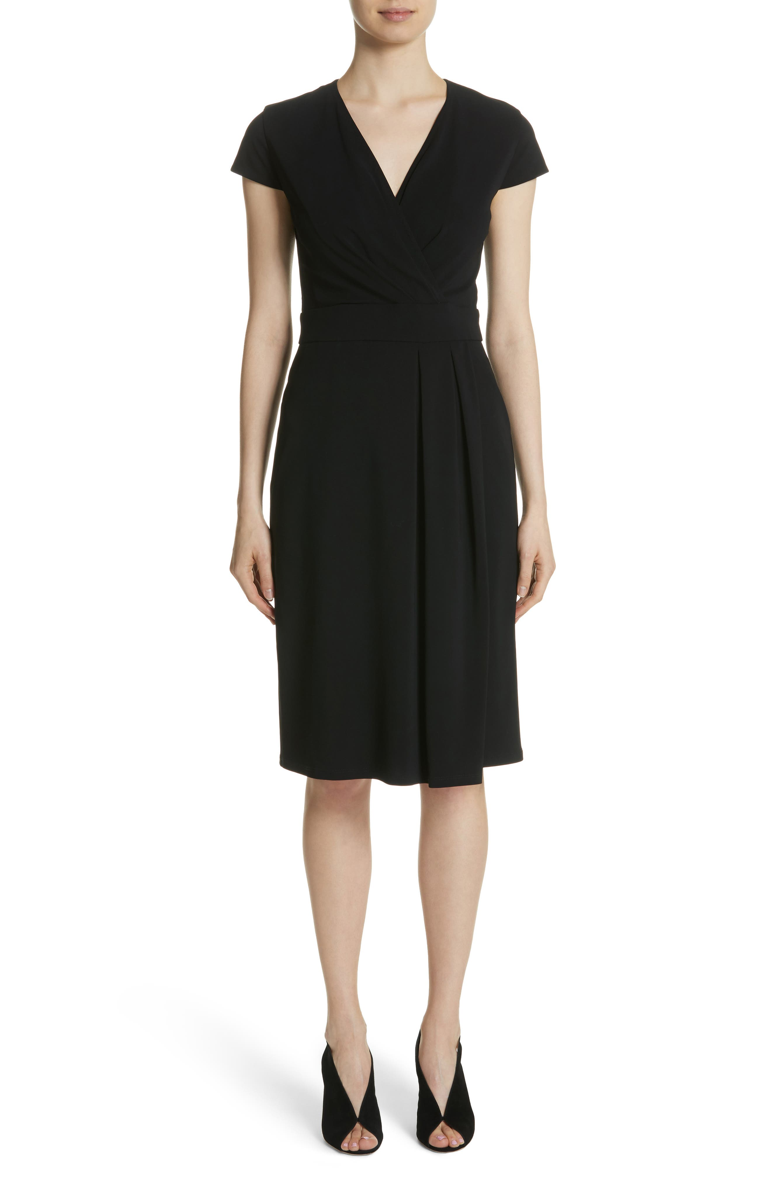 Feluca Surplice Dress,                             Main thumbnail 1, color,                             001