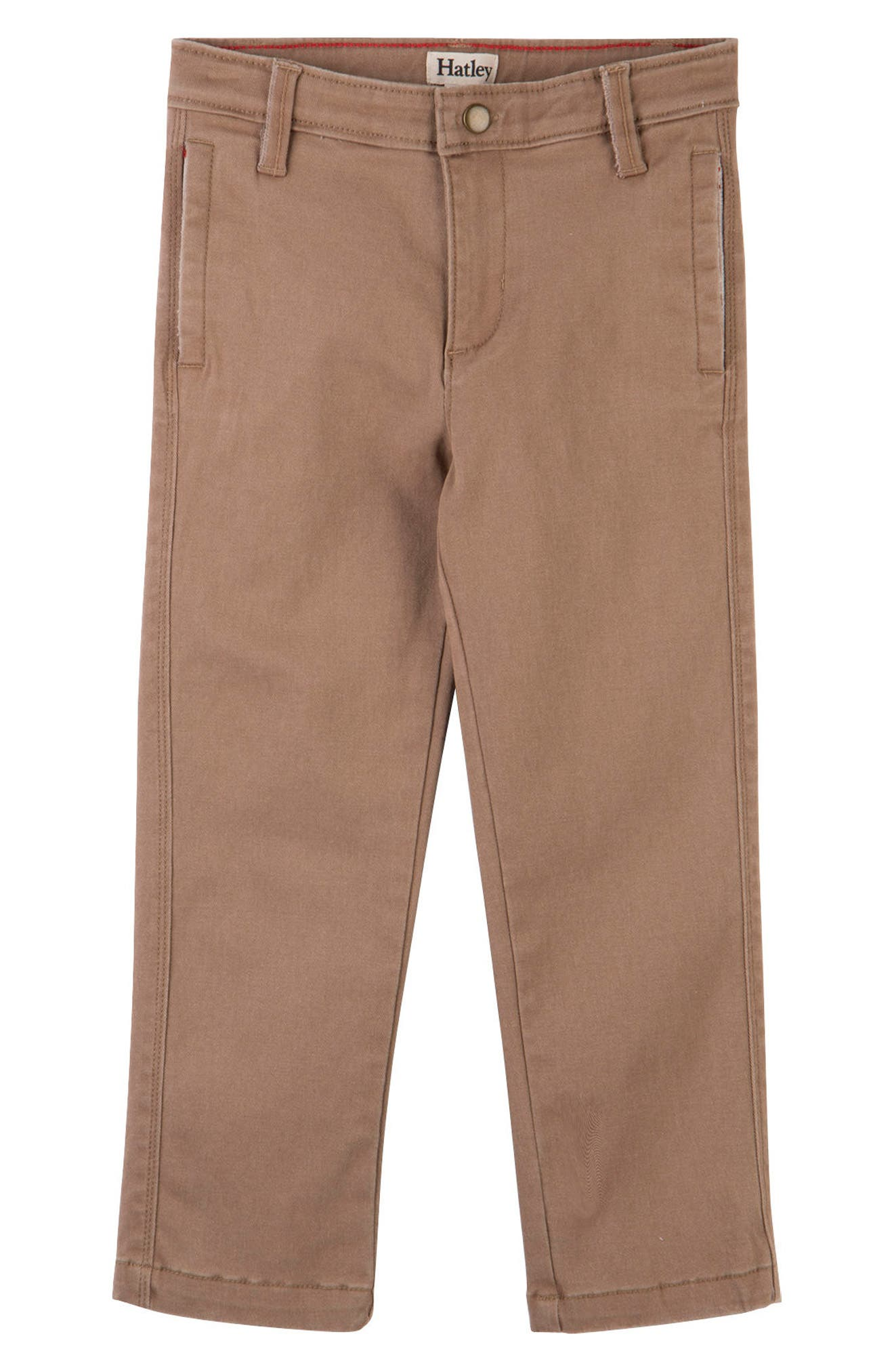 Toddler Boys Hatley Stretch Cotton Twill Pants Size 3  Brown