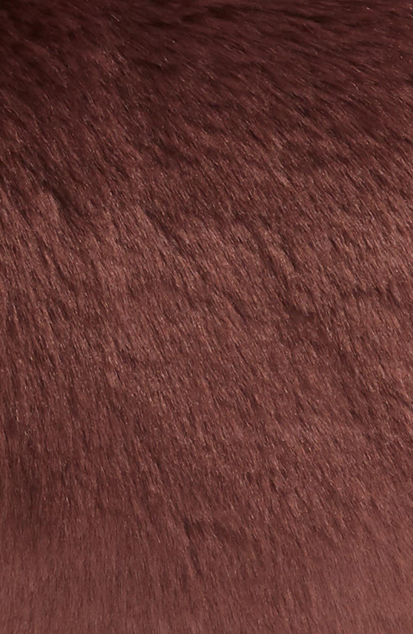 'Cuddle Up' Faux Fur Heart Accent Pillow,                             Alternate thumbnail 3, color,                             BURGUNDY STEM
