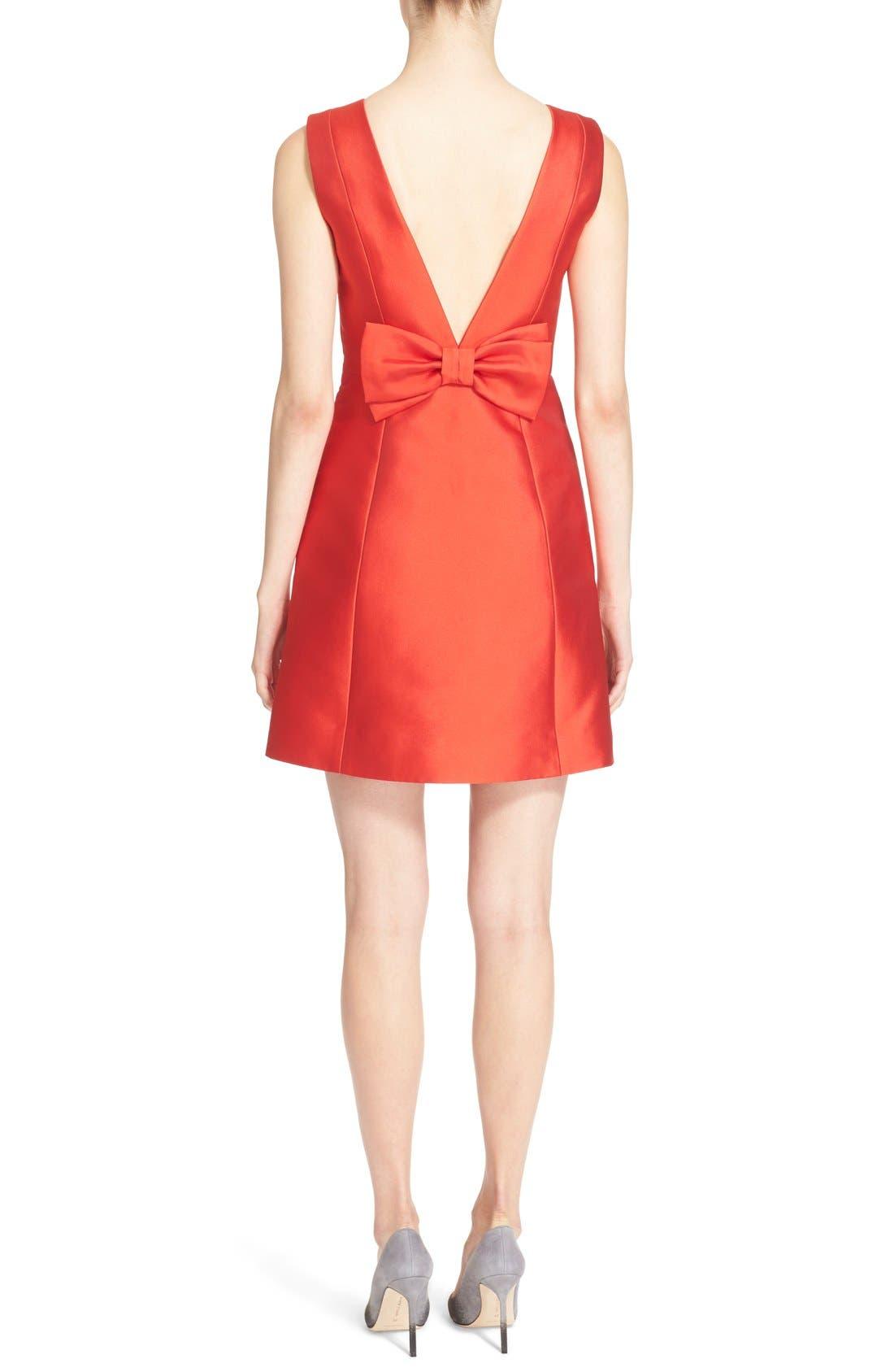open back bow dress,                             Alternate thumbnail 2, color,                             601