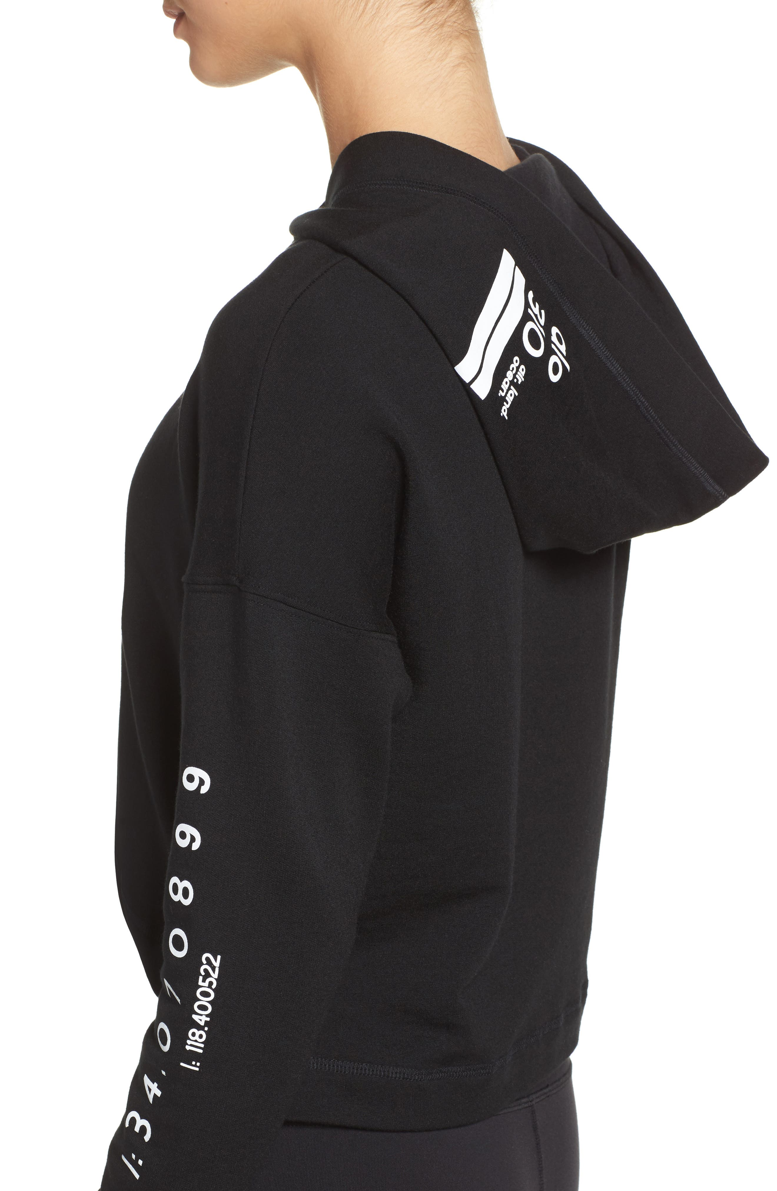 Screenprint French Terry Crop Hoodie,                             Alternate thumbnail 31, color,