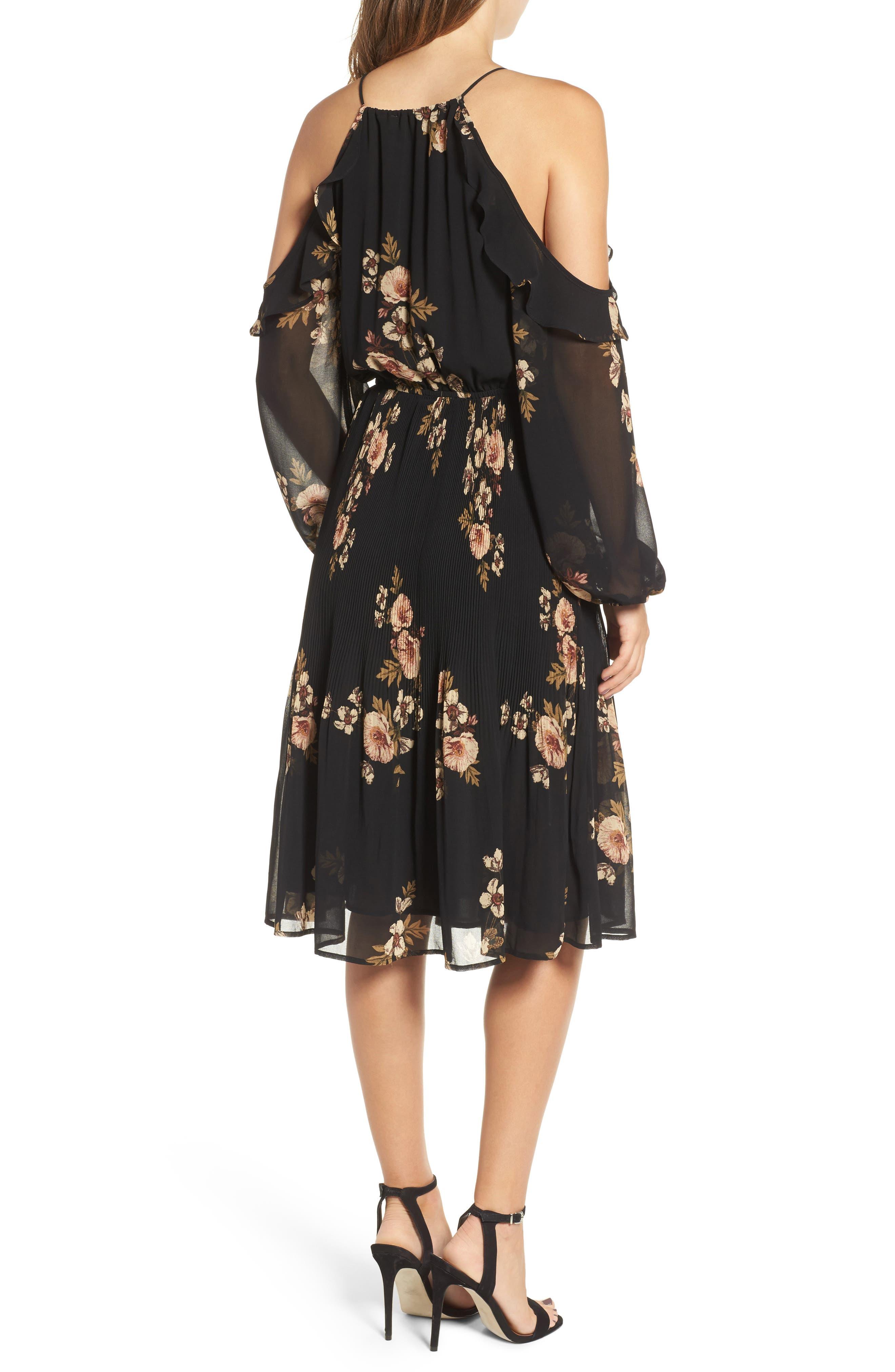 Persephone Cold Shoulder Dress,                             Alternate thumbnail 2, color,