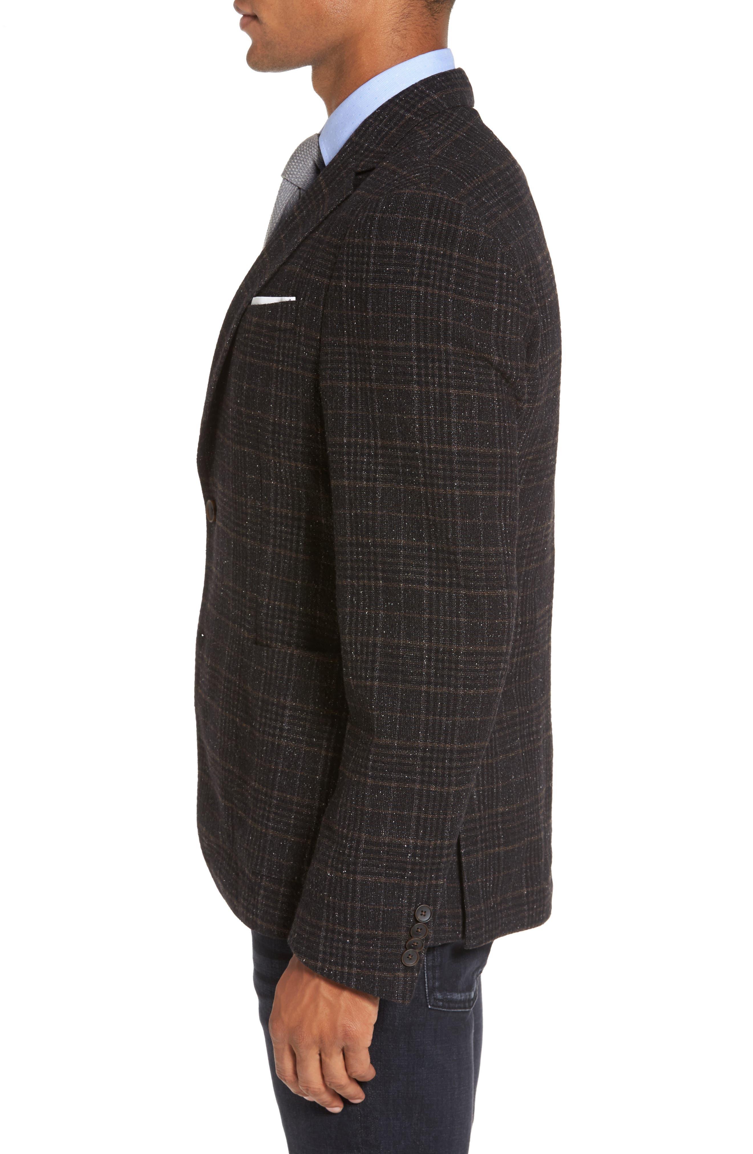 Nold Trim Fit Plaid Wool Blend Sport Coat,                             Alternate thumbnail 3, color,                             202