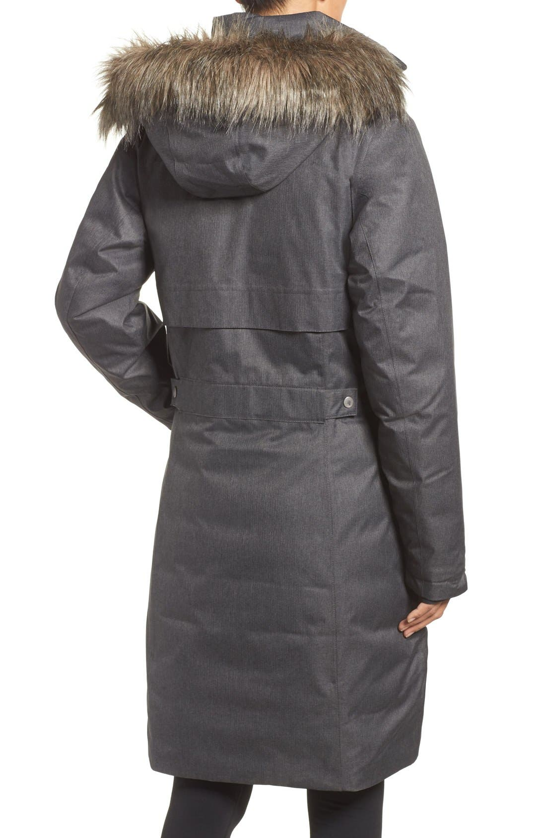 Apres Arson<sup>™</sup> Down Jacket with Faux Fur Trim,                             Alternate thumbnail 5, color,                             010