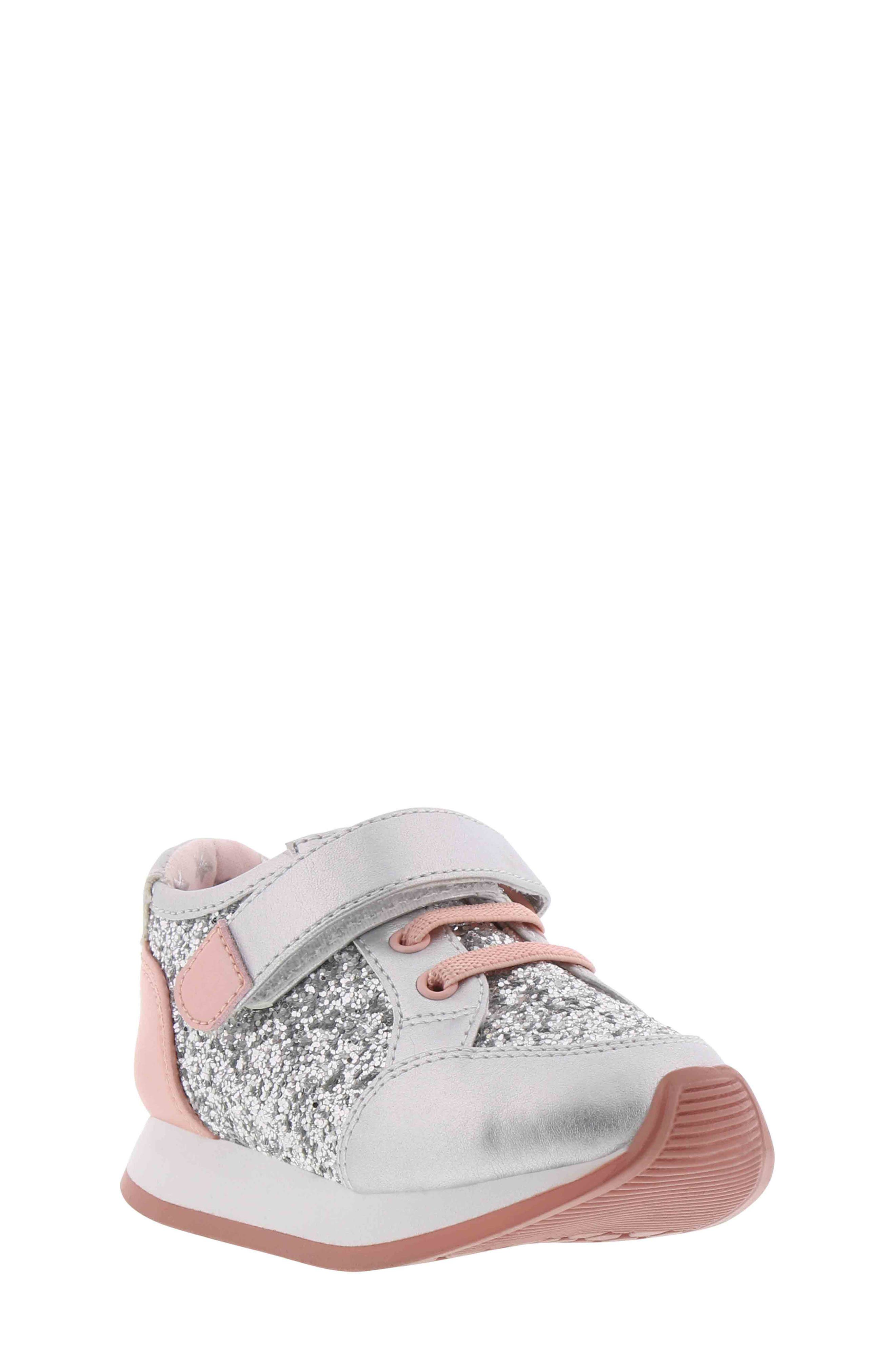 BØRN,                             Adyson Margyne Sparkle Sneaker,                             Main thumbnail 1, color,                             SILVER PINK