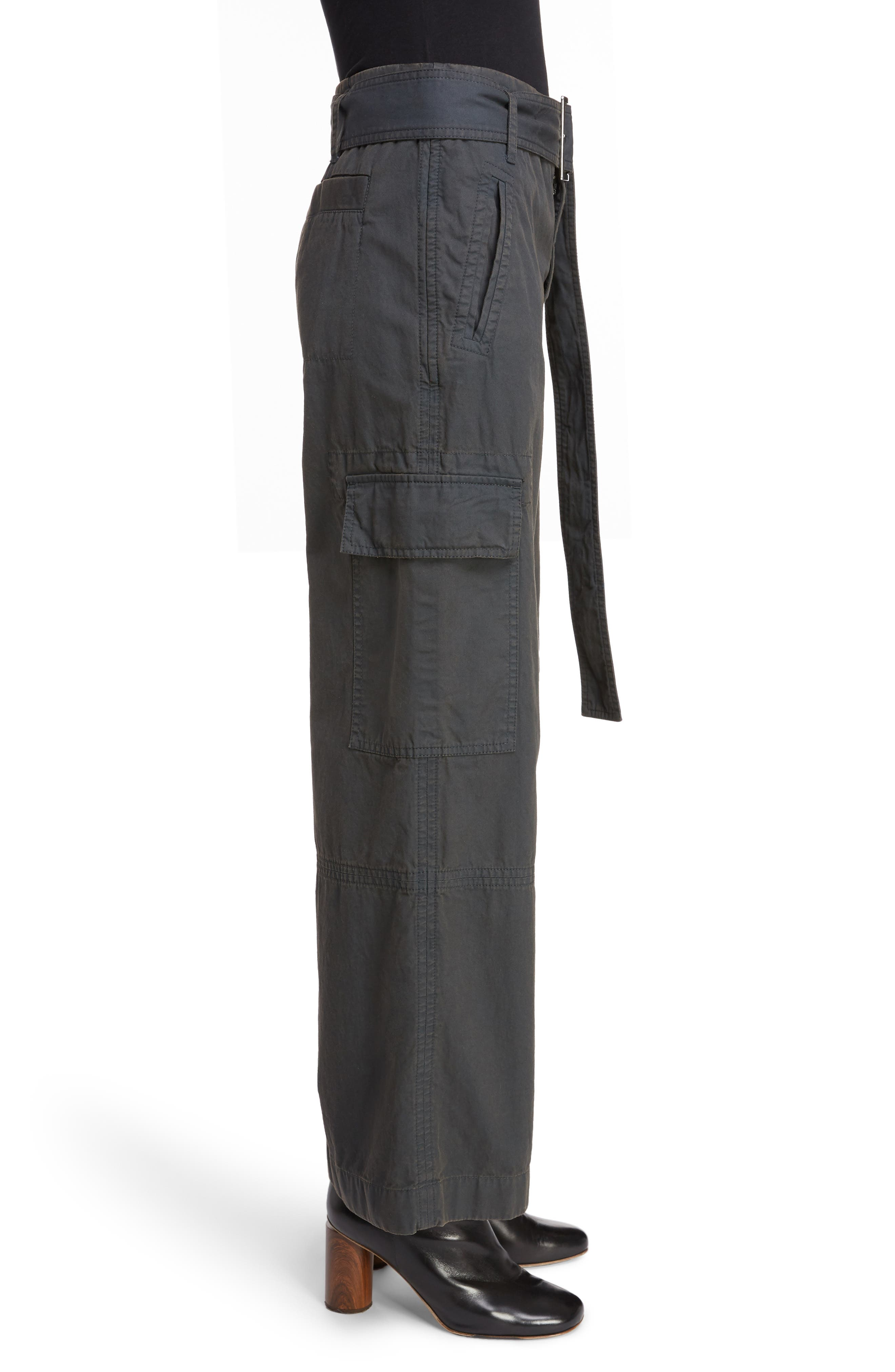 ACNE STUDIOS,                             Patrice Cotton Chino Trousers,                             Alternate thumbnail 3, color,                             ANTHRACITE GREY
