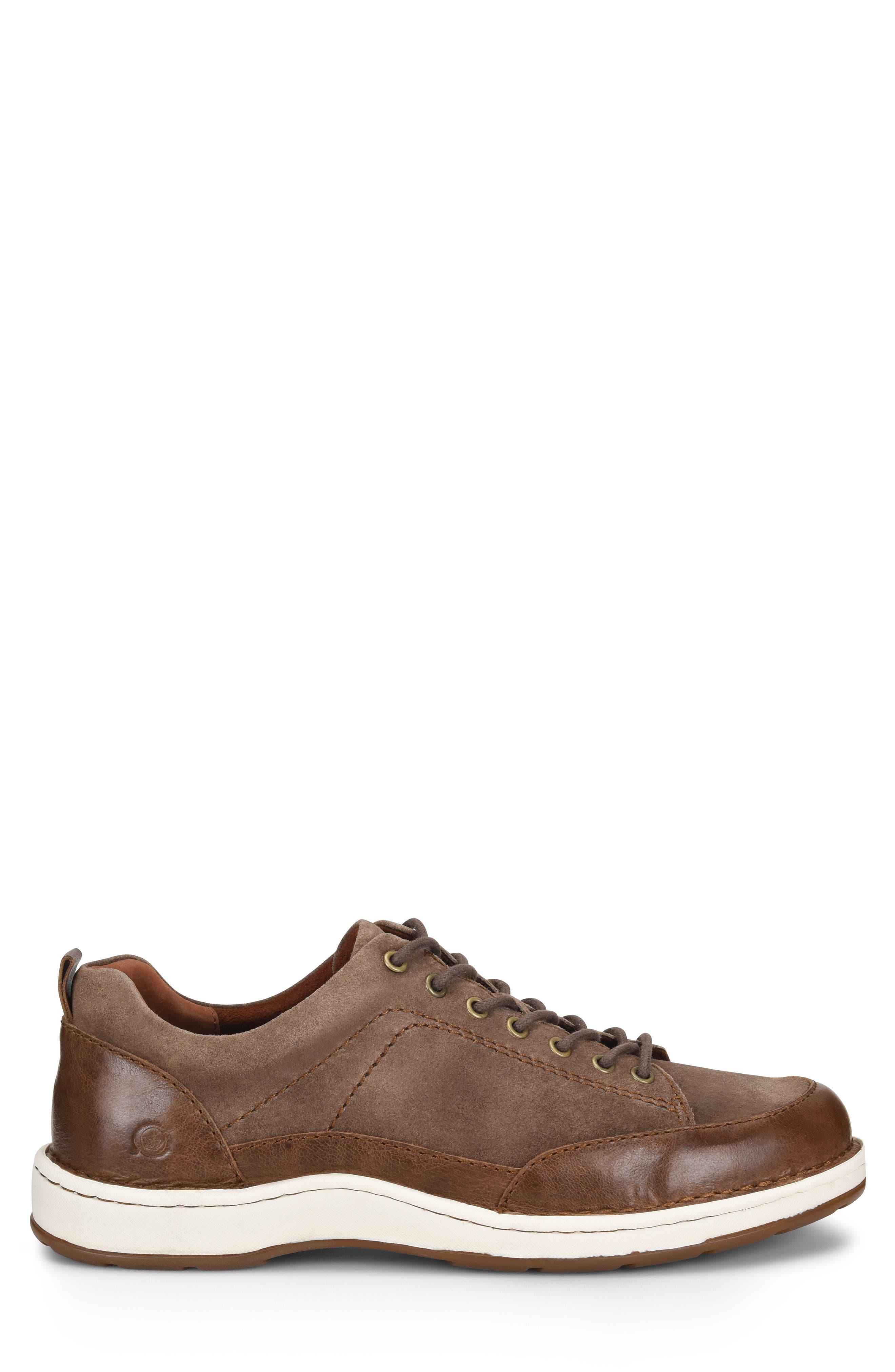 Kruger Moc Toe Sneaker,                             Alternate thumbnail 3, color,                             TAUPE LEATHER