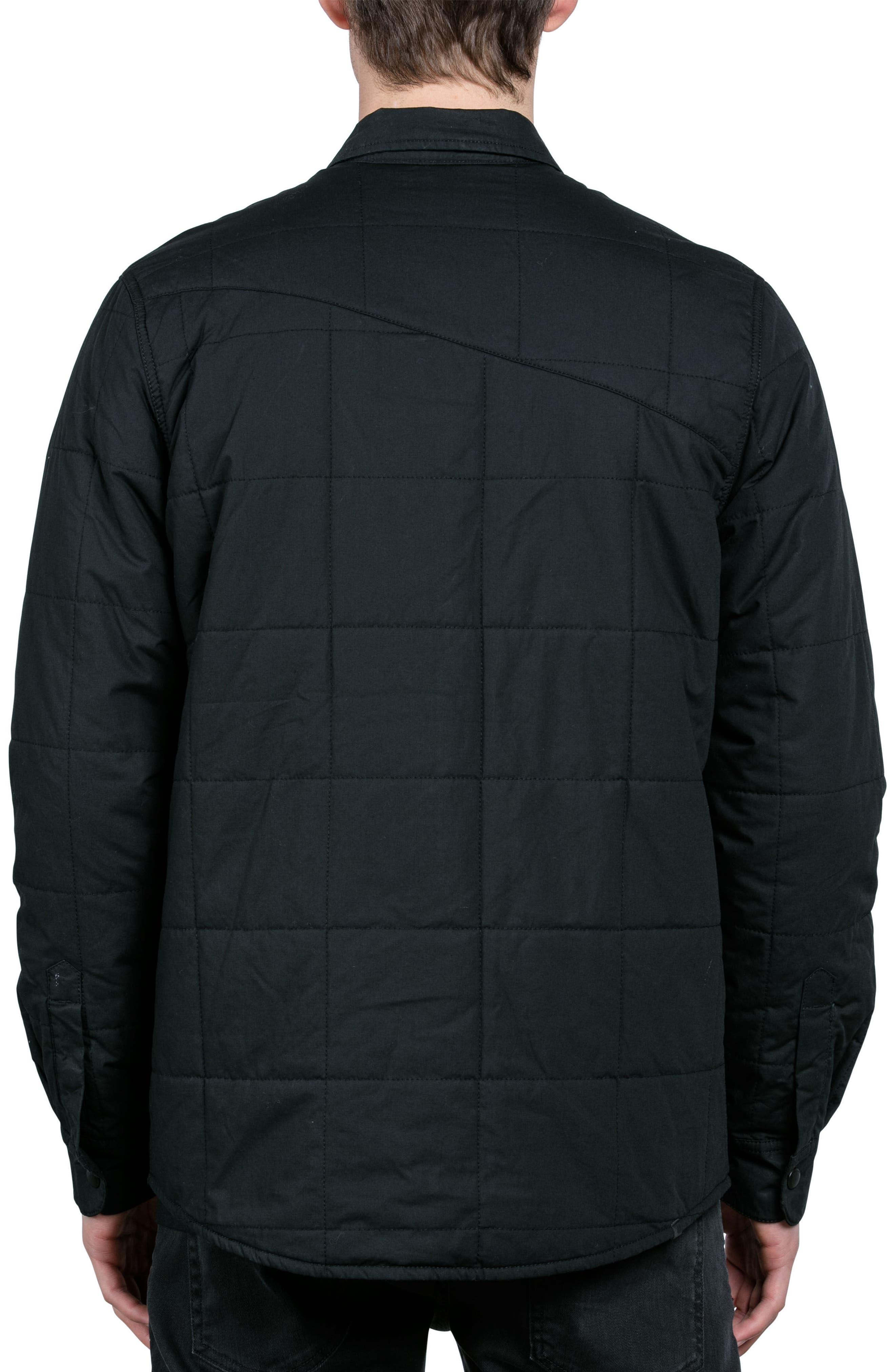 Larkin Quilted Shirt Jacket,                             Alternate thumbnail 2, color,                             001