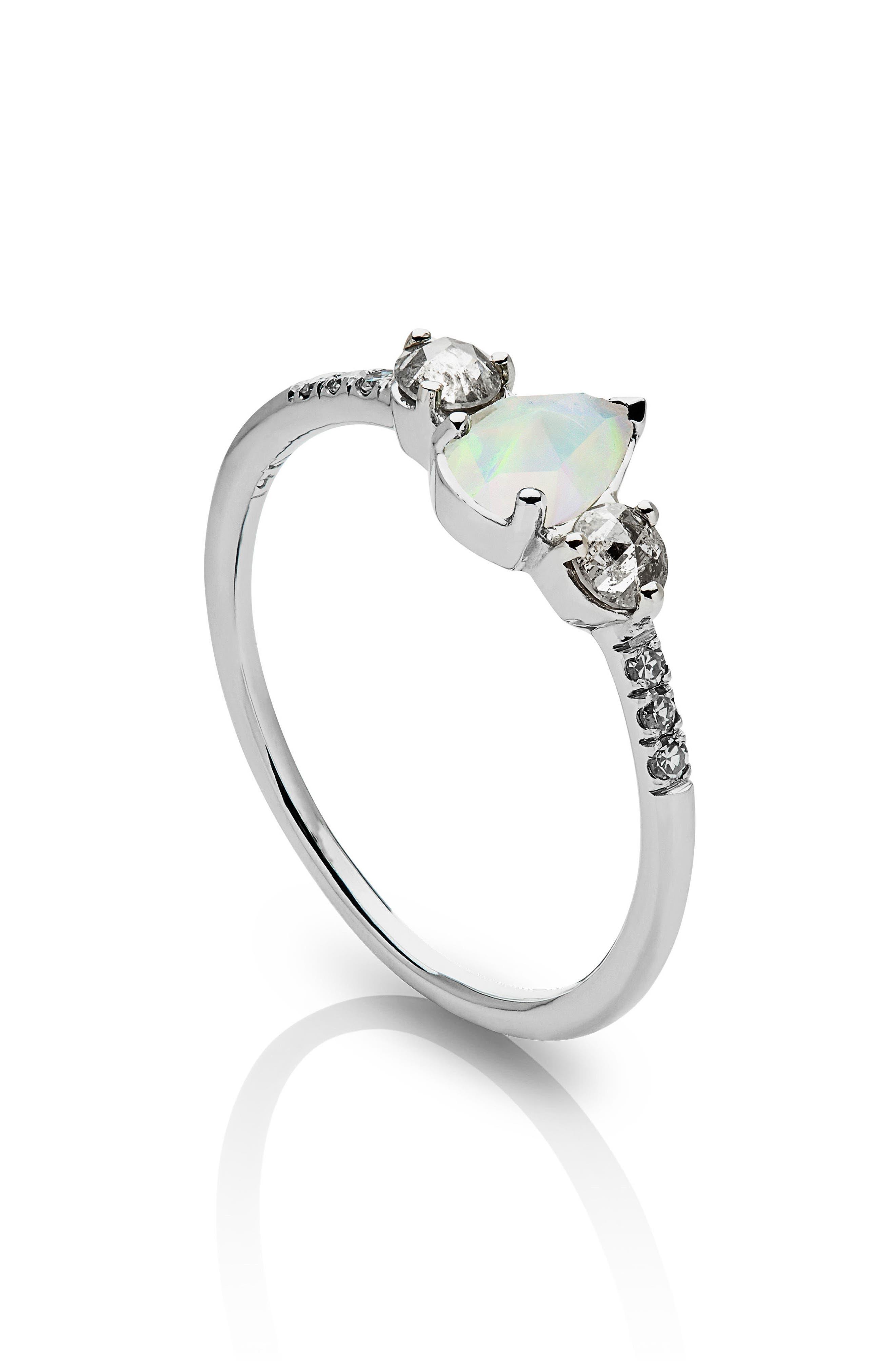 Radiance Opal & Diamond Ring,                             Alternate thumbnail 2, color,                             WHITE GOLD/ OPAL