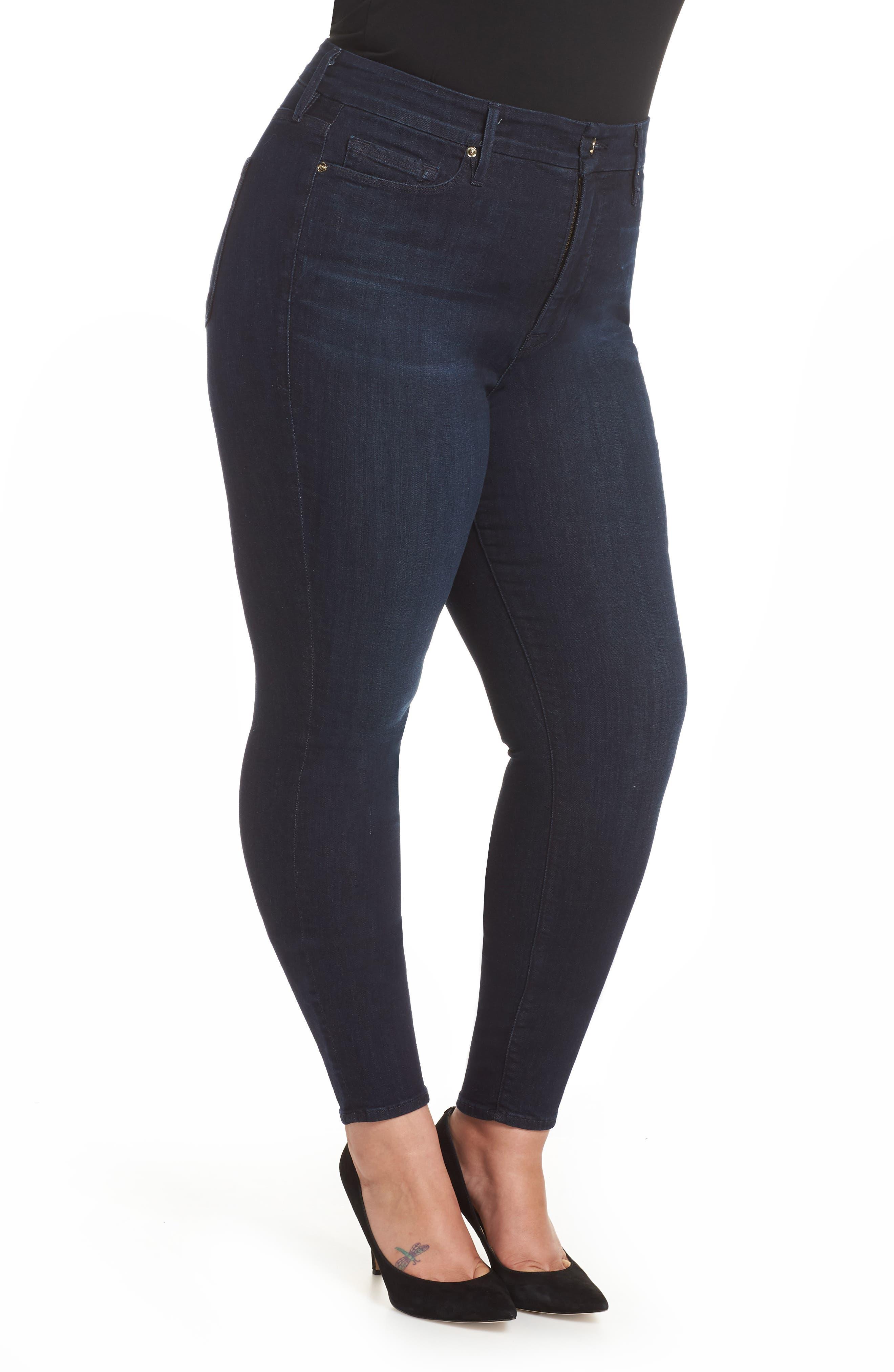 GOOD AMERICAN,                             Good Legs High Waist Skinny Jeans,                             Alternate thumbnail 10, color,                             BLUE224