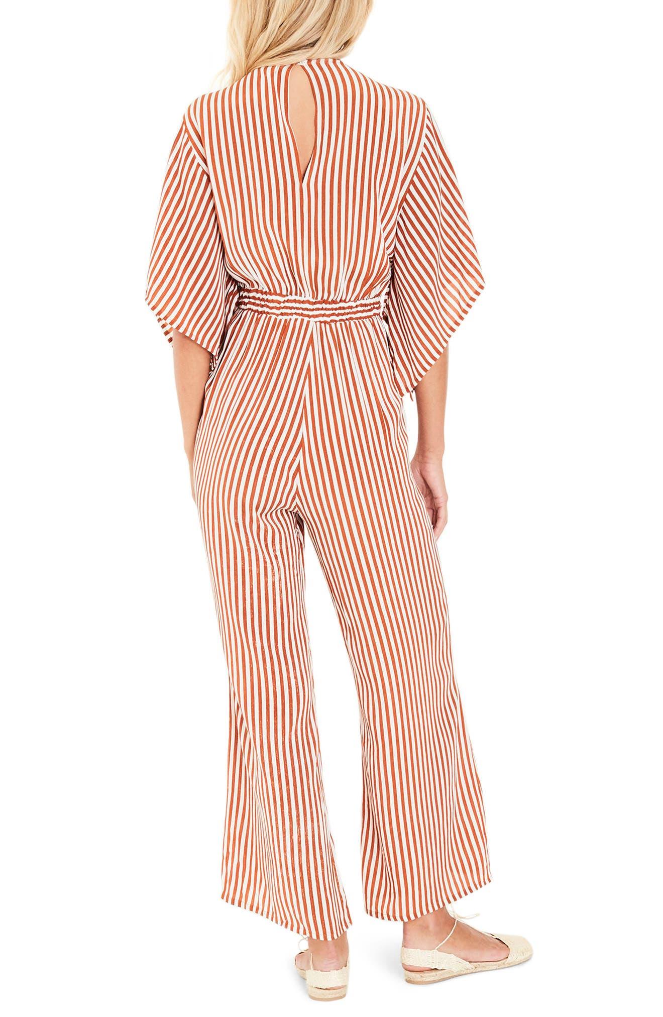 Tilos Stripe Tie Front Jumpsuit,                             Alternate thumbnail 2, color,                             802