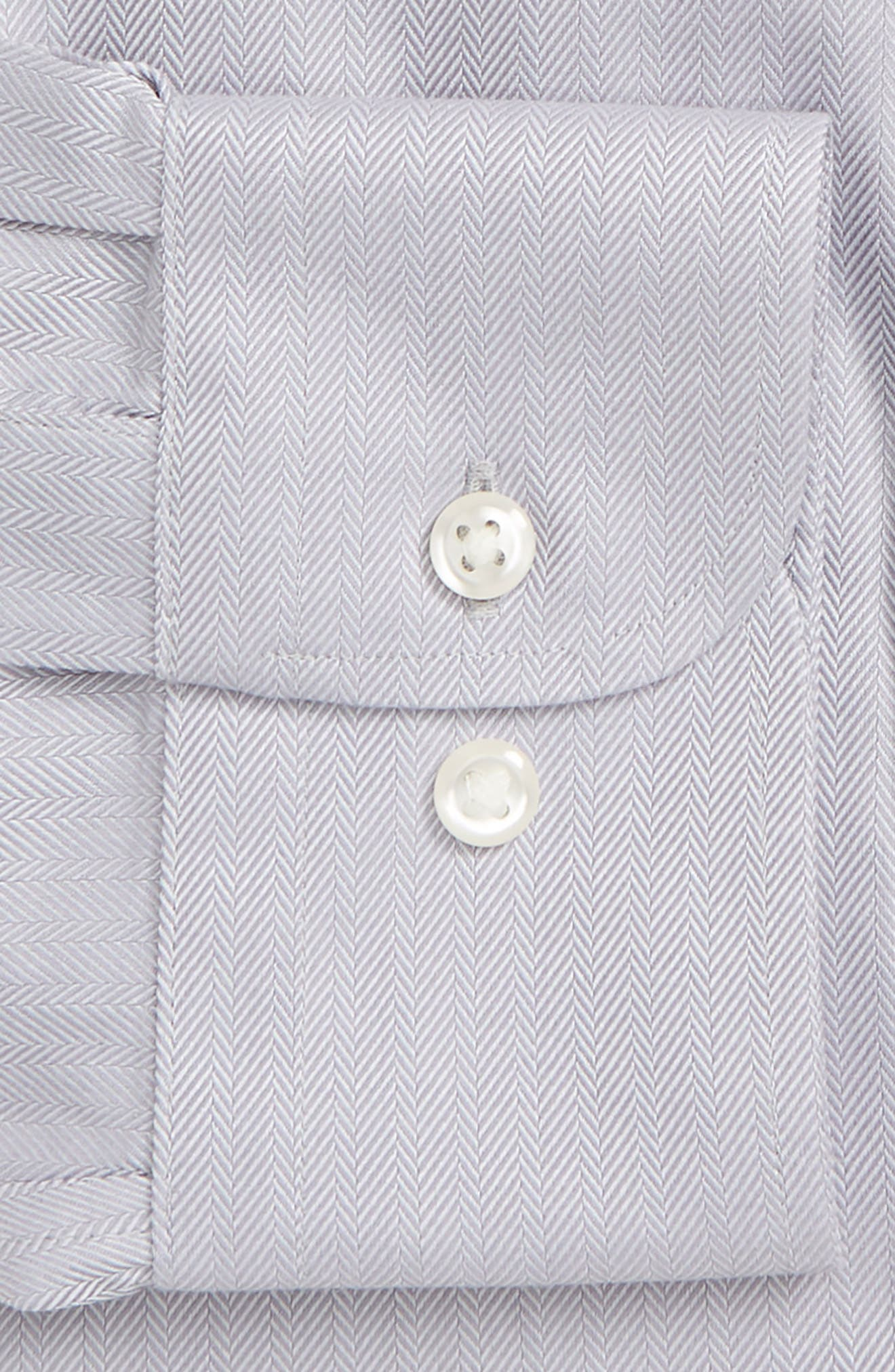 Smartcare<sup>™</sup> Traditional Fit Herringbone Dress Shirt,                             Alternate thumbnail 2, color,                             GREY DECEMBER