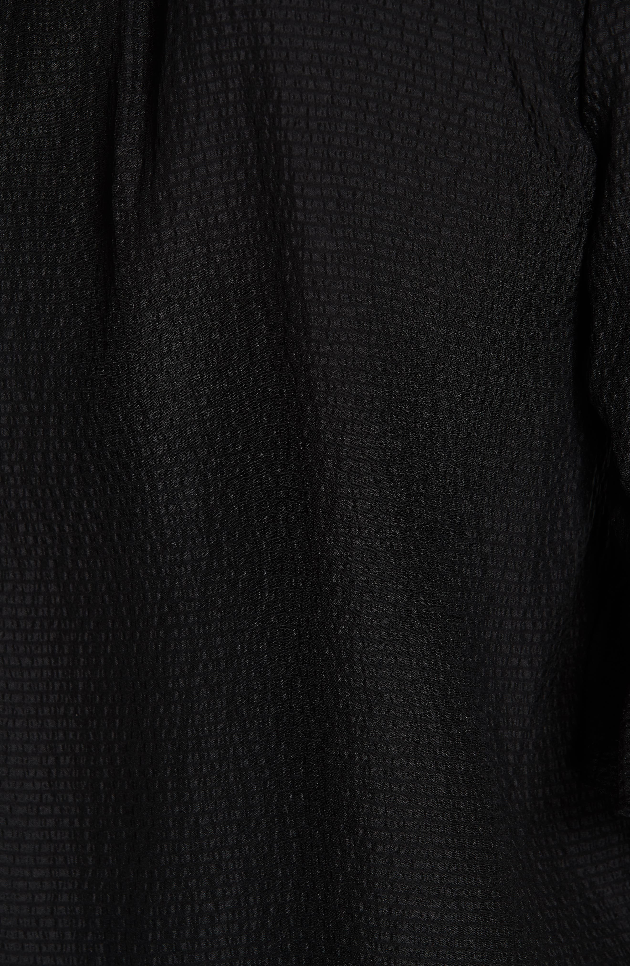Silk Ruffle Top,                             Alternate thumbnail 5, color,                             BLACK